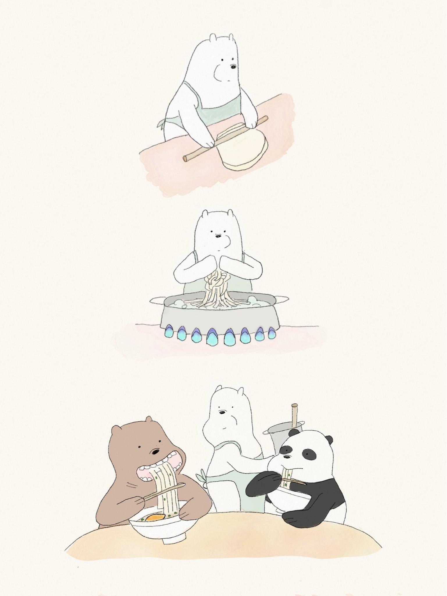アイスベア、うどん打つ. We Bare BearsFandomsCartoons