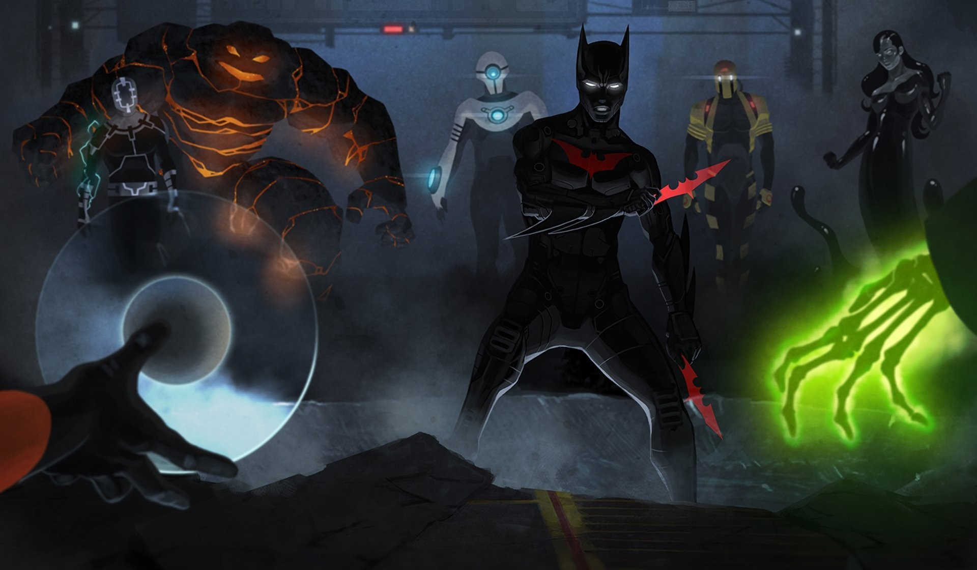 batman beyond terry mcginnis inque shriek blight magma