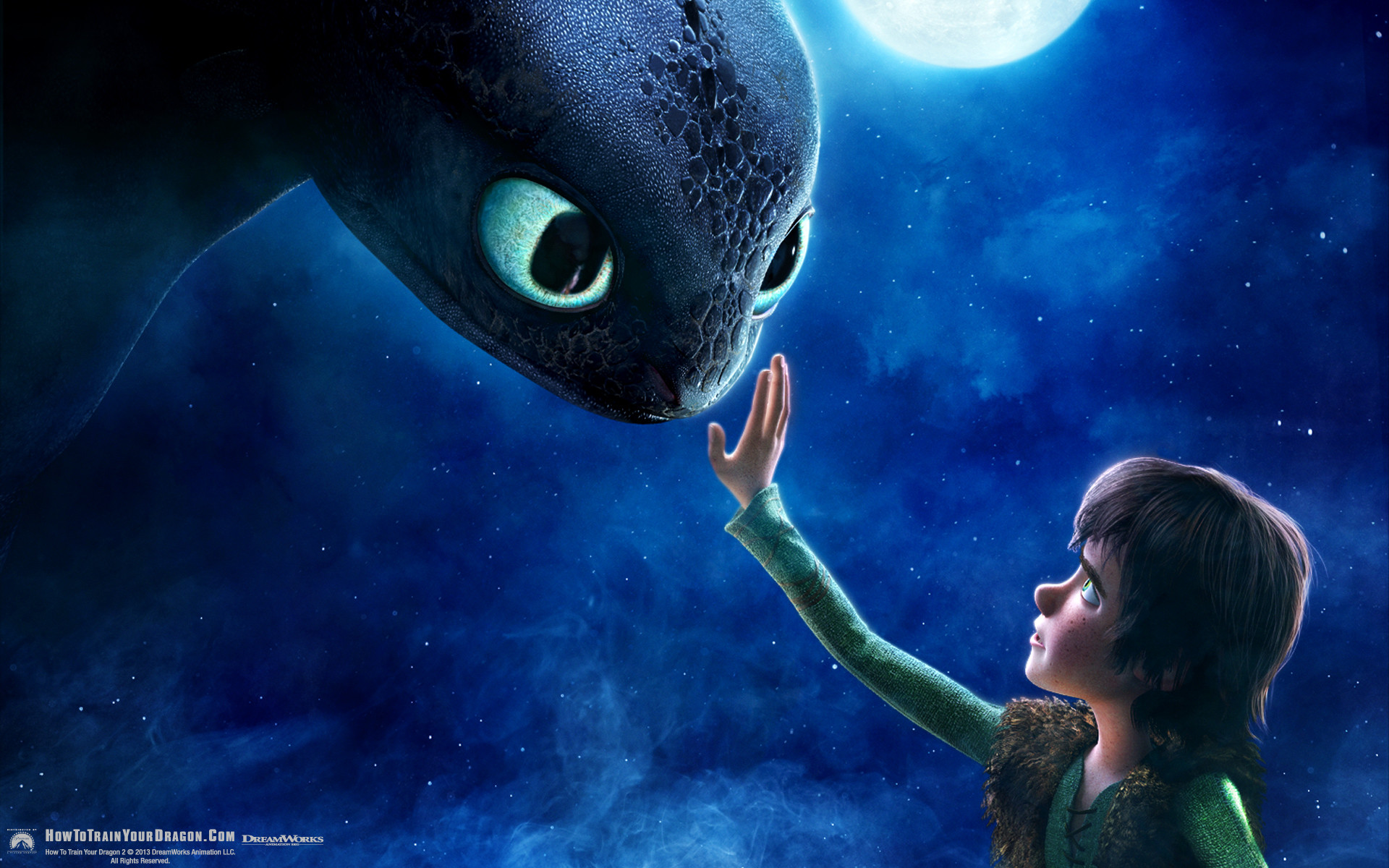 Hiccup and Toothless from How to Train Your Dragon movie wallpaper