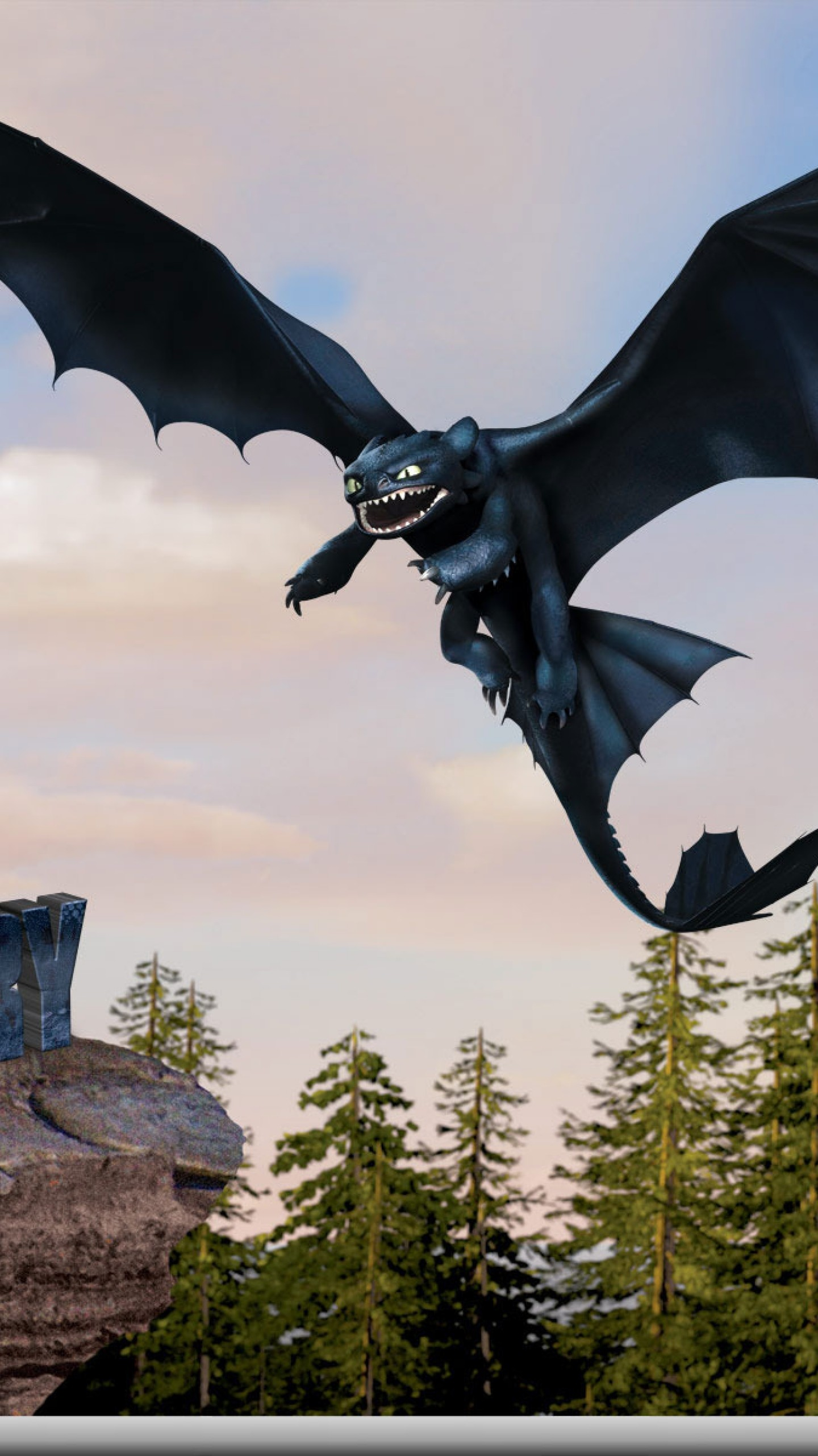 Wallpaper how to train your dragon, toothless, flight