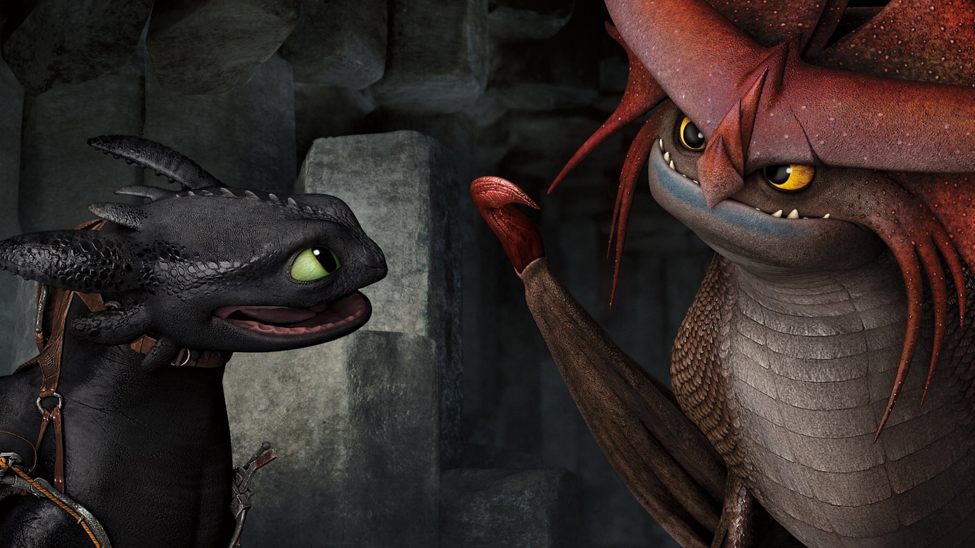 toothless and stormcutter how to train your dragon 2