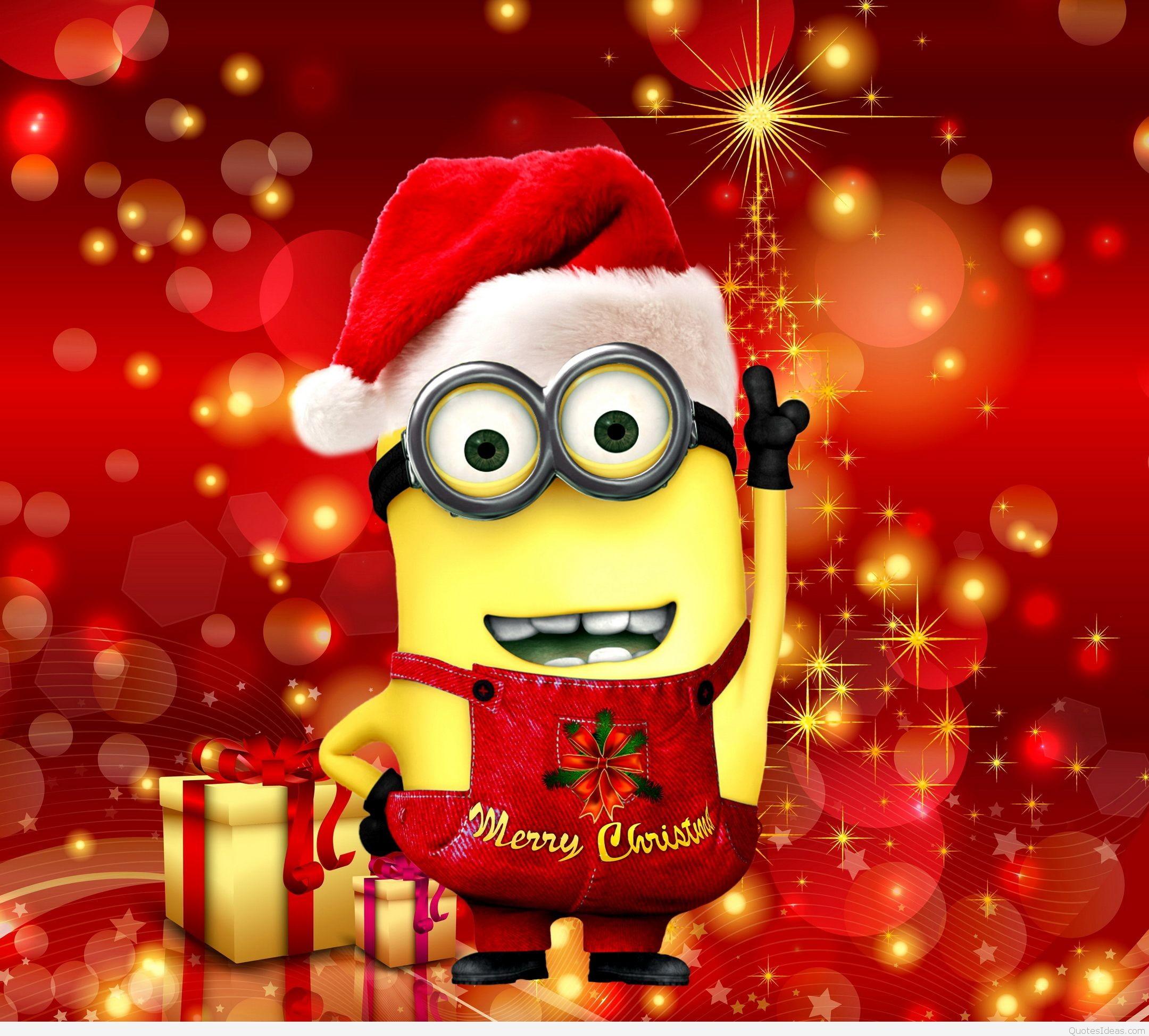 Картинки новогоднего миньона