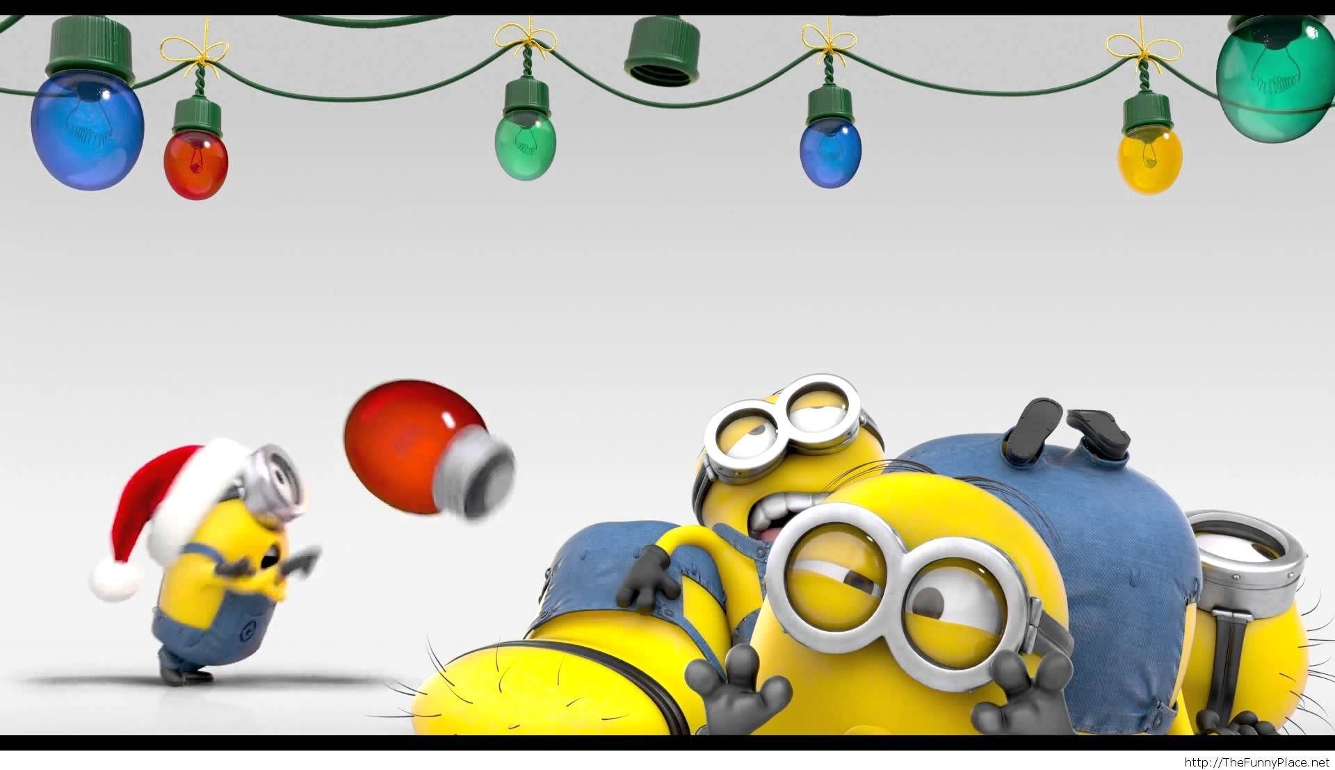 Funny christmas minions wallpaper