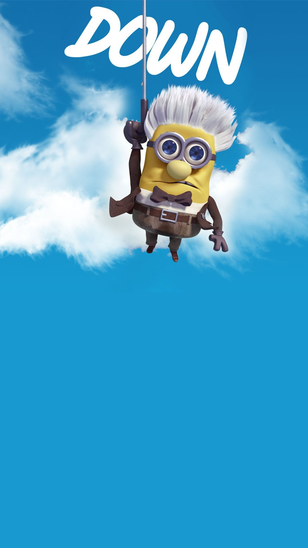 2014 Halloween up movie parody minion iphone 6 plus wallpaper HD –  Despicable Me, down