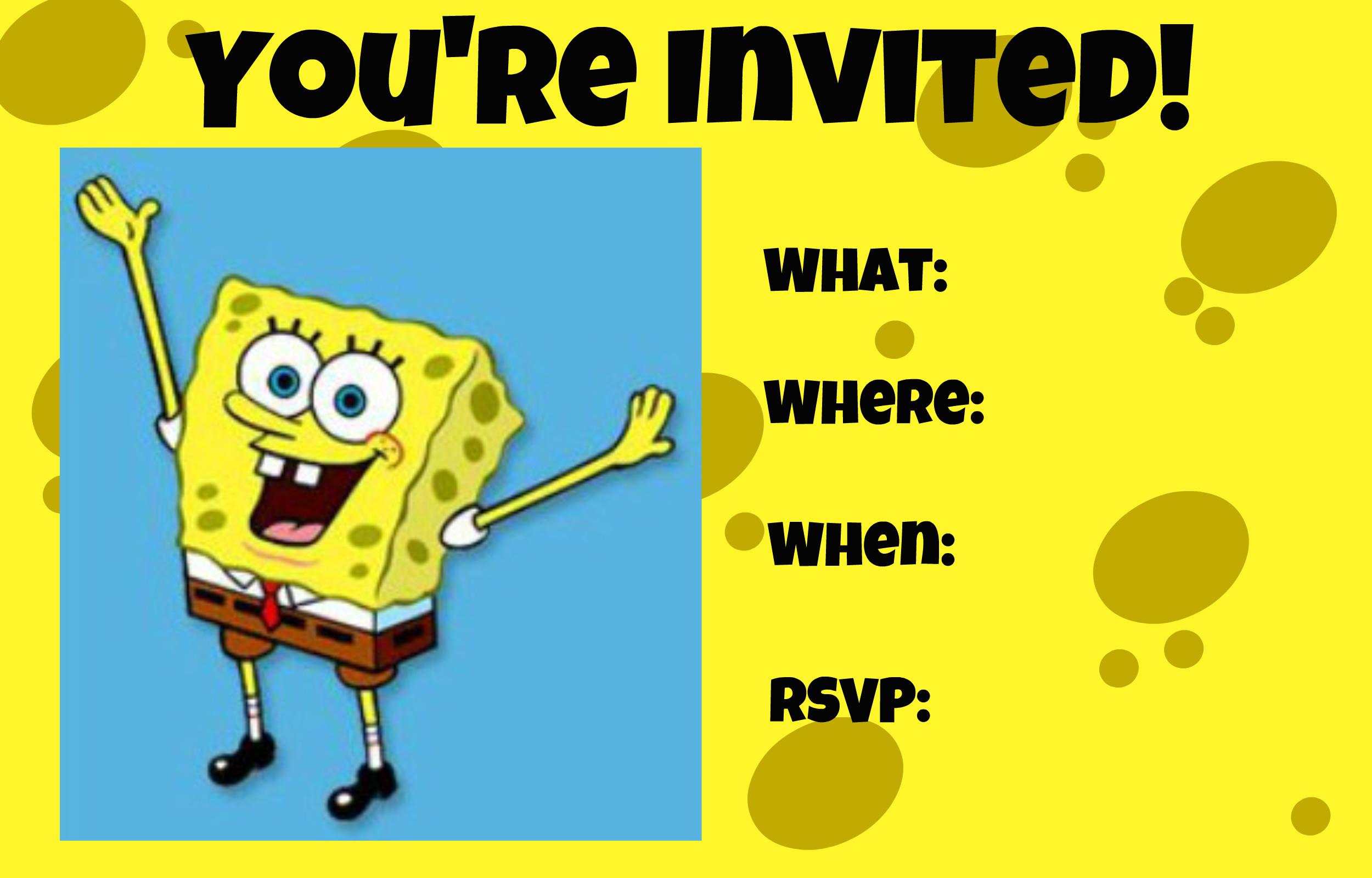 SpongeBob SquarePants invitation