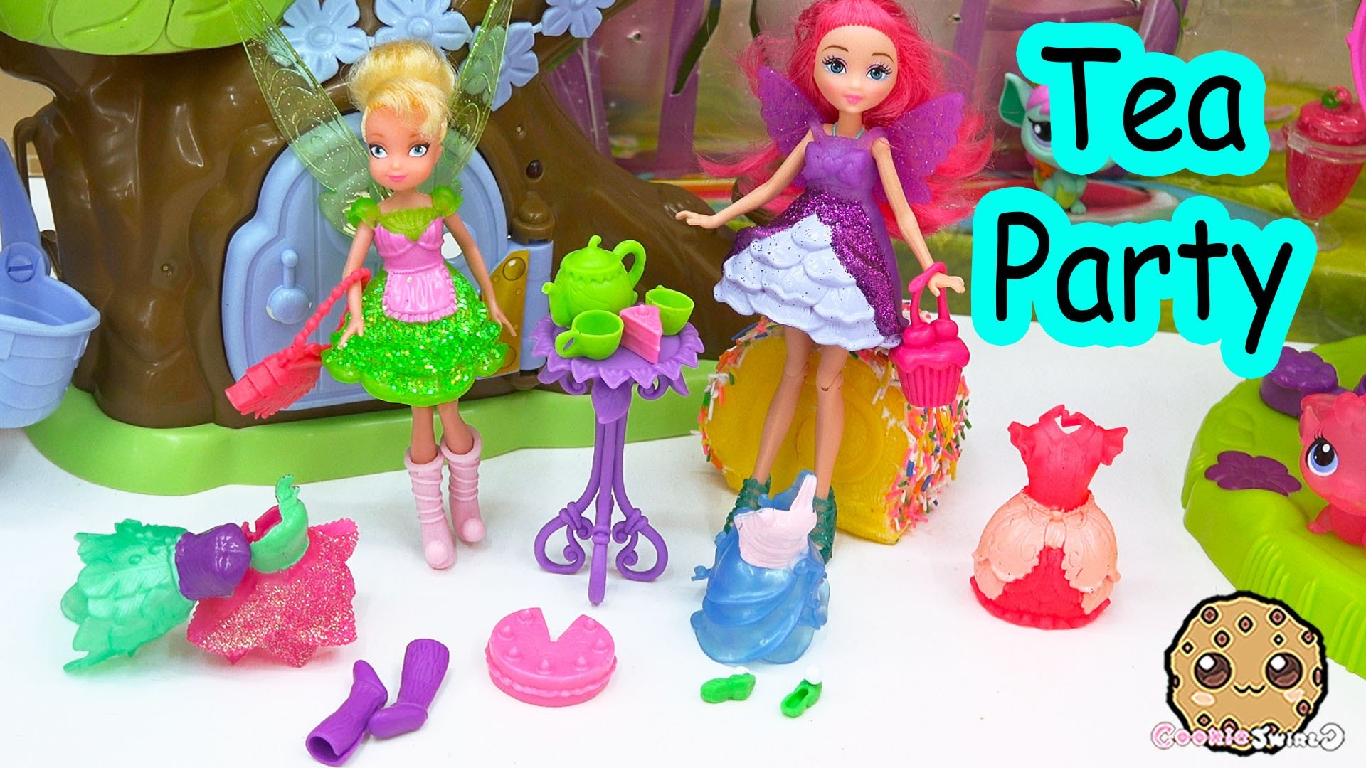 Disney Faries Tinker Bell Pixie Sweets Bakery Mini Fairy Doll Dress Up Tea  Party With Barbie – YouTube