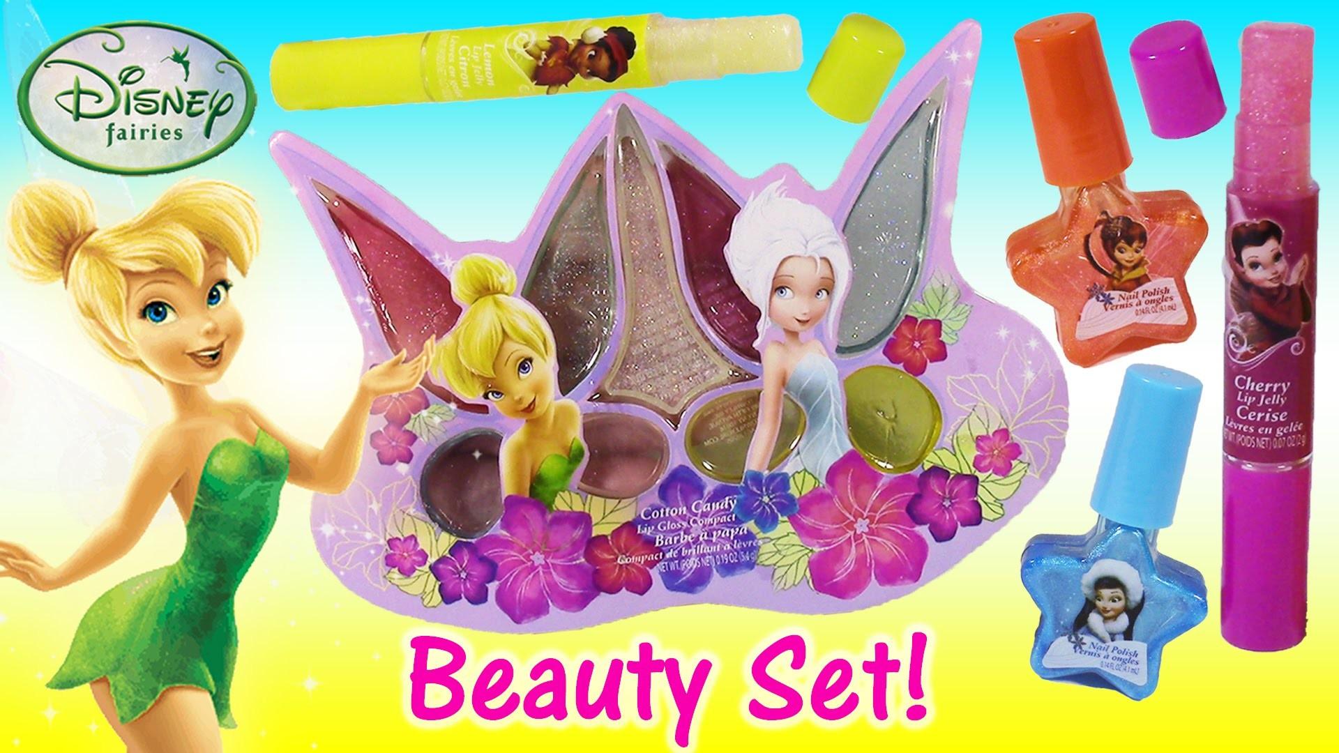 Disney Fairies TINKERBELL Cosmetic Set! Beauty Bag with Lip Gloss Lip Balm  Nail Polish! SHOPKINS – YouTube