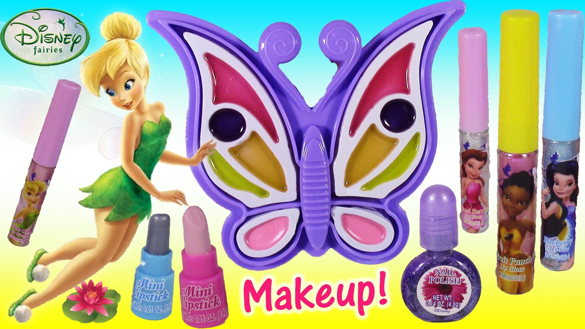 Disney Fairies Tinkerbell Butterfly Makeup Kit! The Great Fairy Escape Lip  GLoss & NAILS! – YouTube