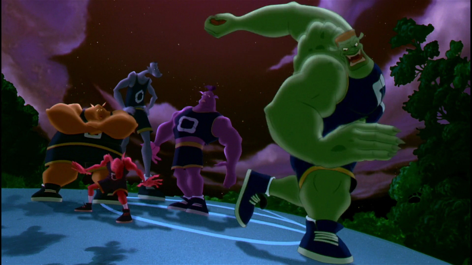 Bupkus, Pound, Blanko & Nawt watch what Bang is gonna do with the basketball