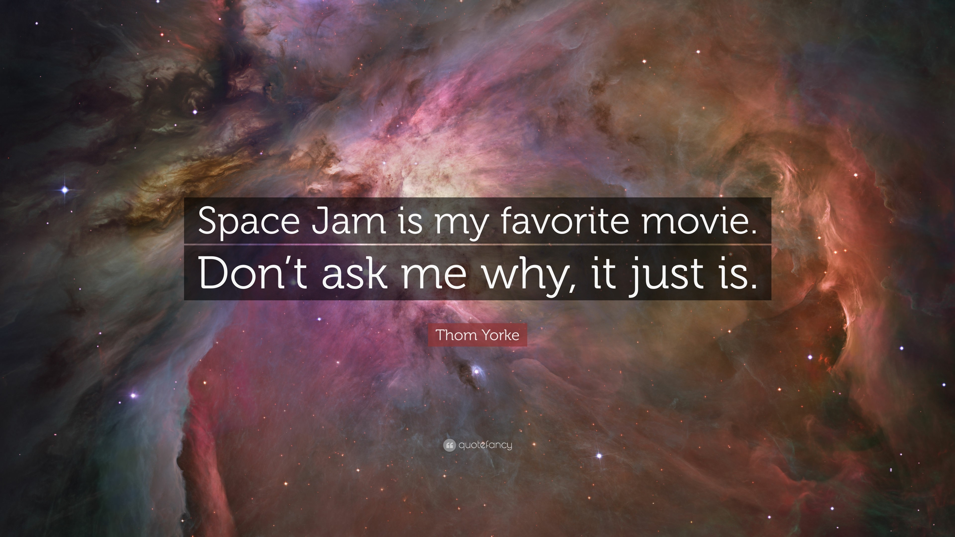 """Thom Yorke Quote: """"Space Jam is my favorite movie. Don't ask"""