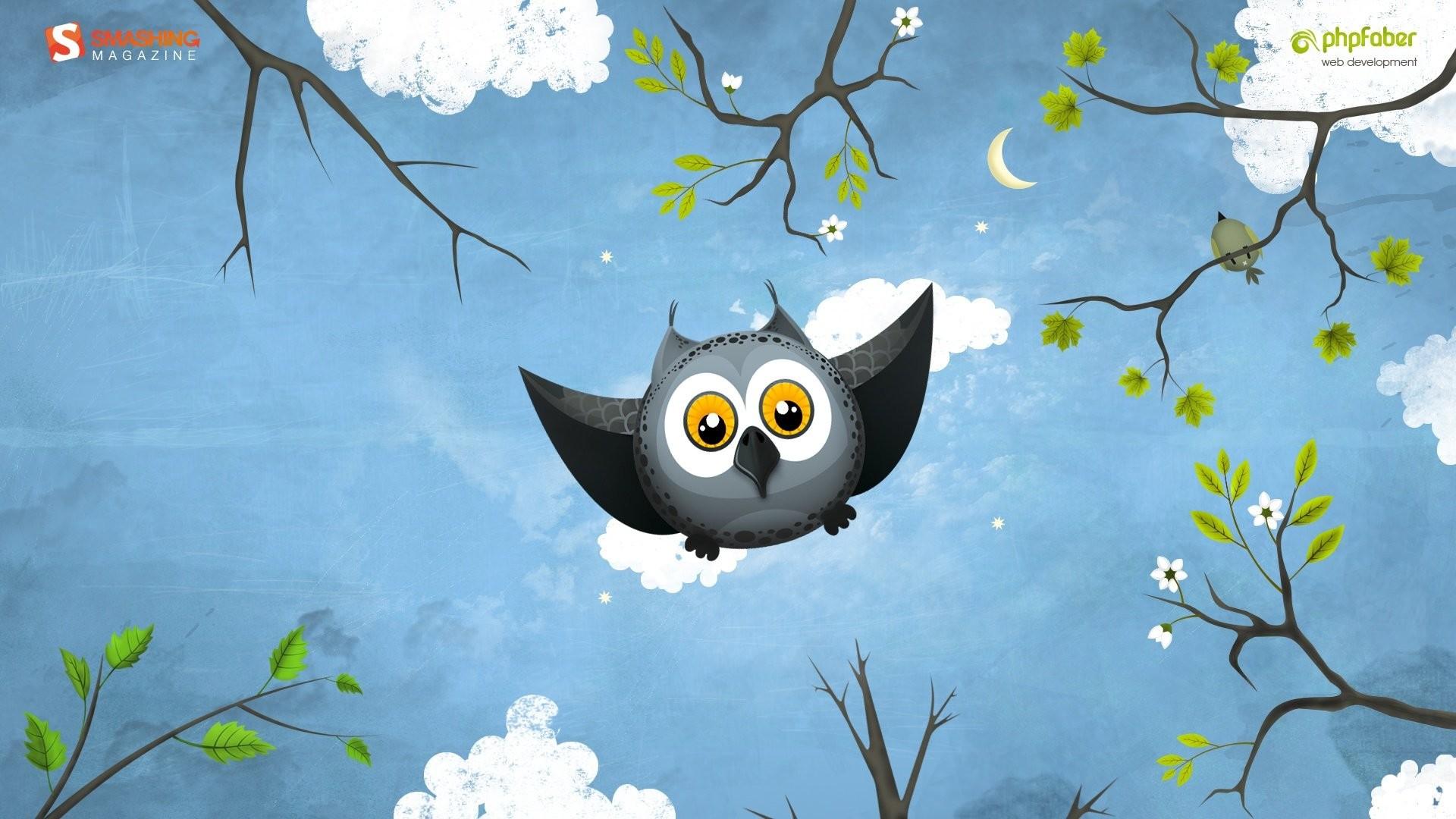 3d cute cartoon owl wallpaper – photo #10
