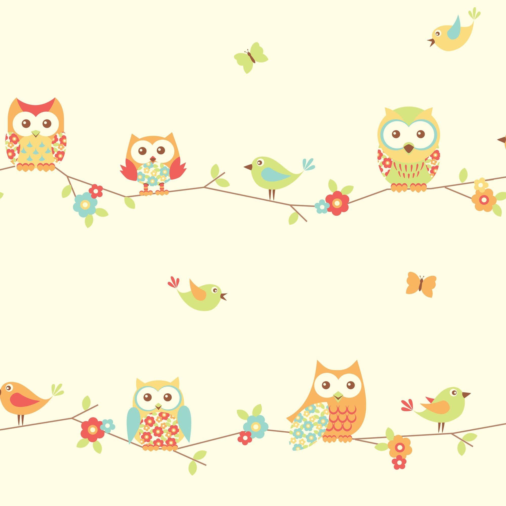 Fun4Walls Owl Wallpaper