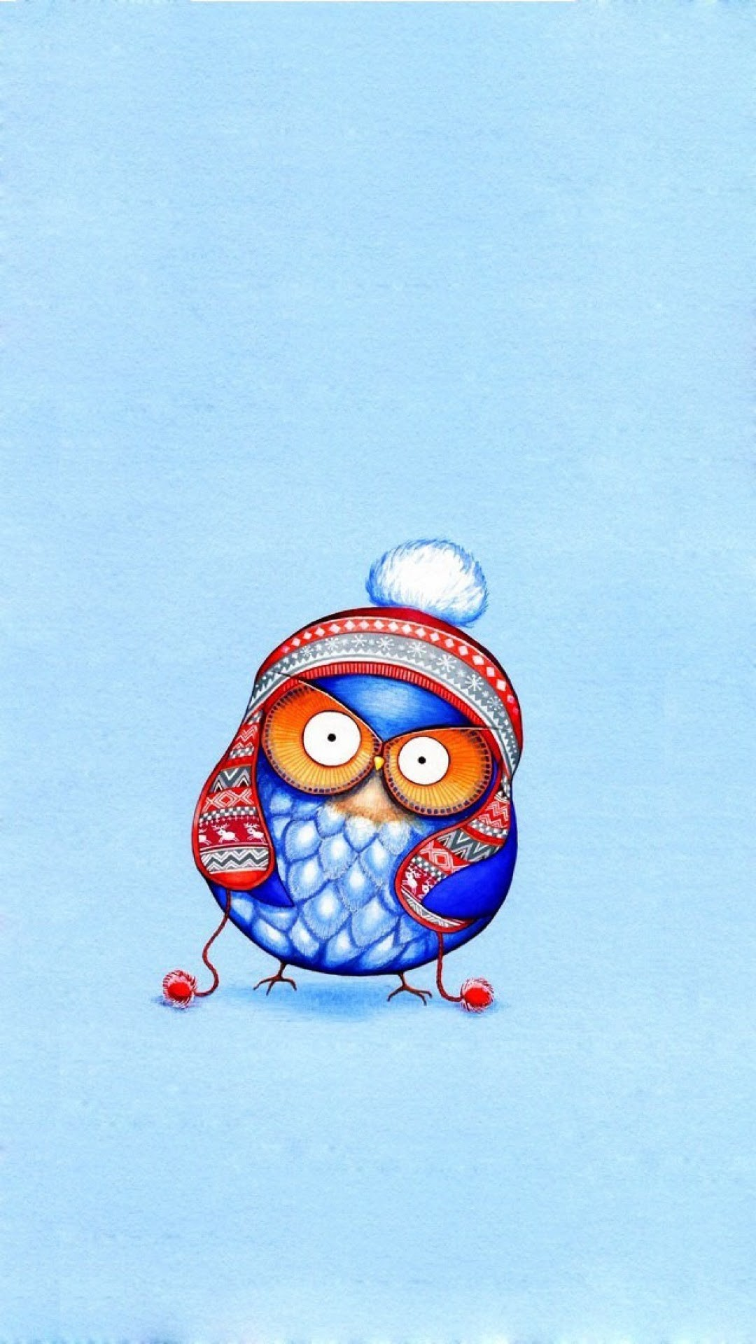Click here to download 768×1366 pixel Cute Cartoon Owl Art Android Best  Wallpaper