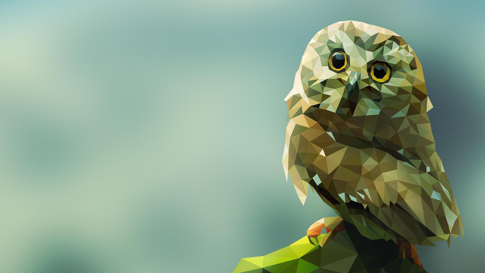 Polygonal Owl Wallpaper