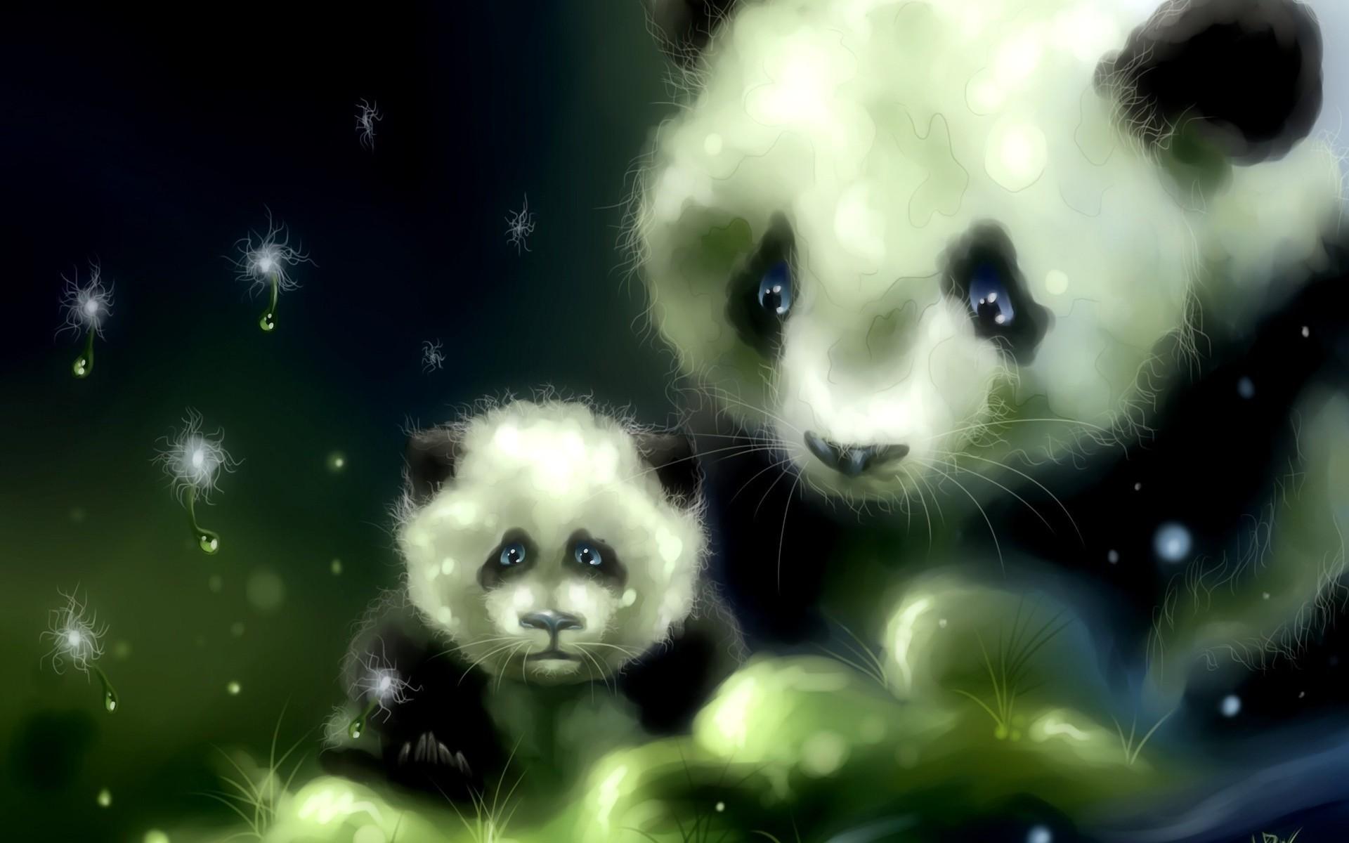 Art panda bears babies cute wallpaper | | 39807 .
