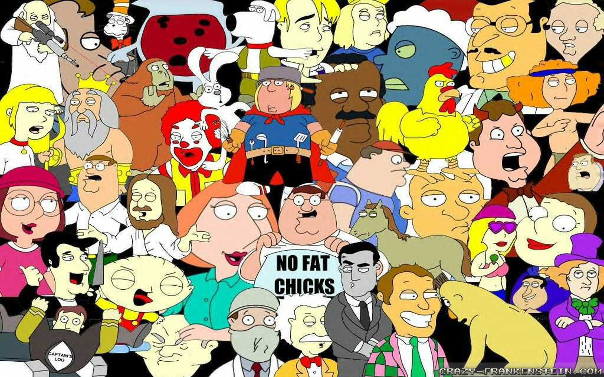Wallpaper: The Family Guy Resolution: 1024×768 | 1280×1024 | 1600×1200.  Widescreen Res: 1440×900 | 1680×1050 | 1920×1200
