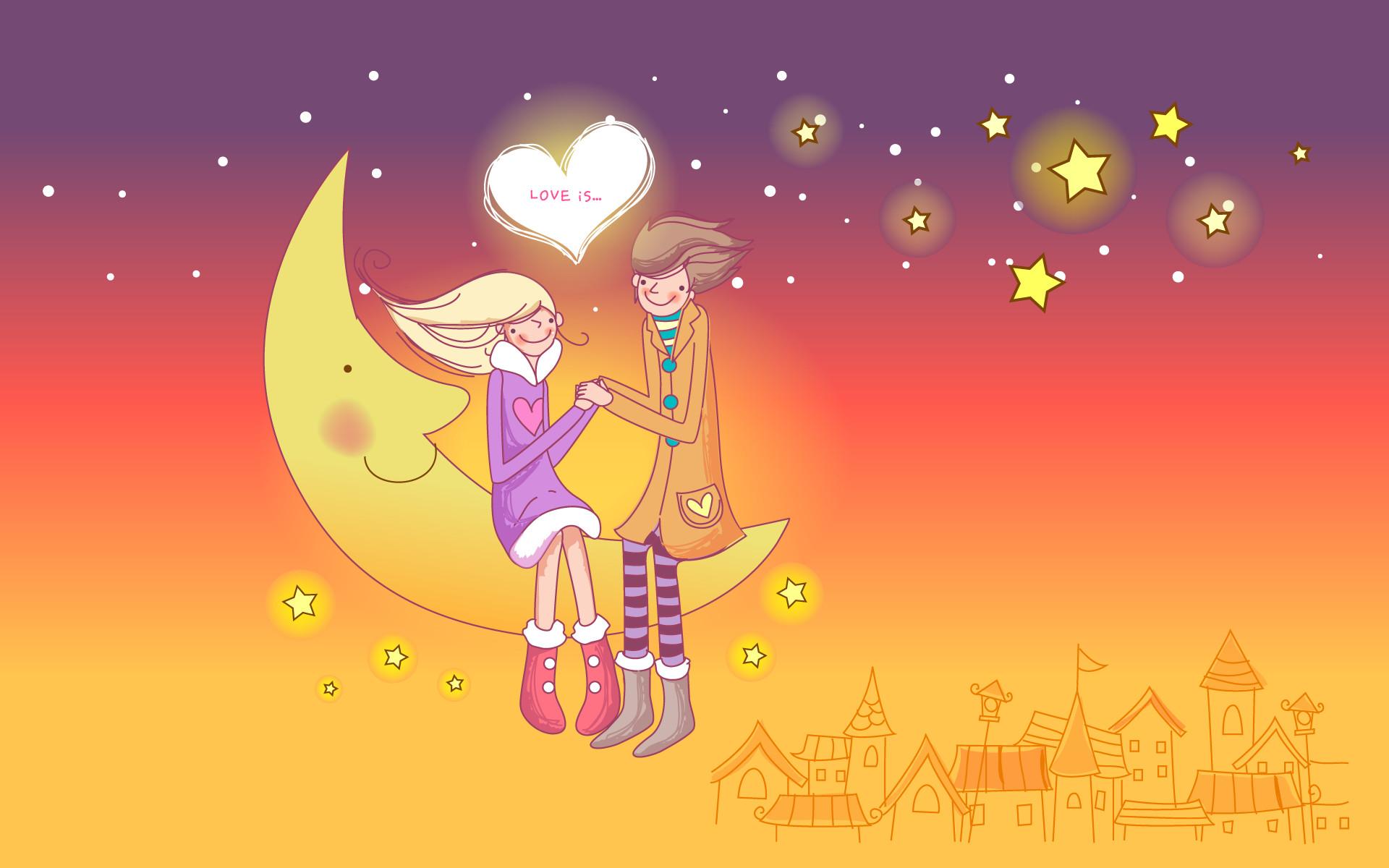 cartoon – Valentine's Day wallpaper NO.1 Desktop Wallpaper .