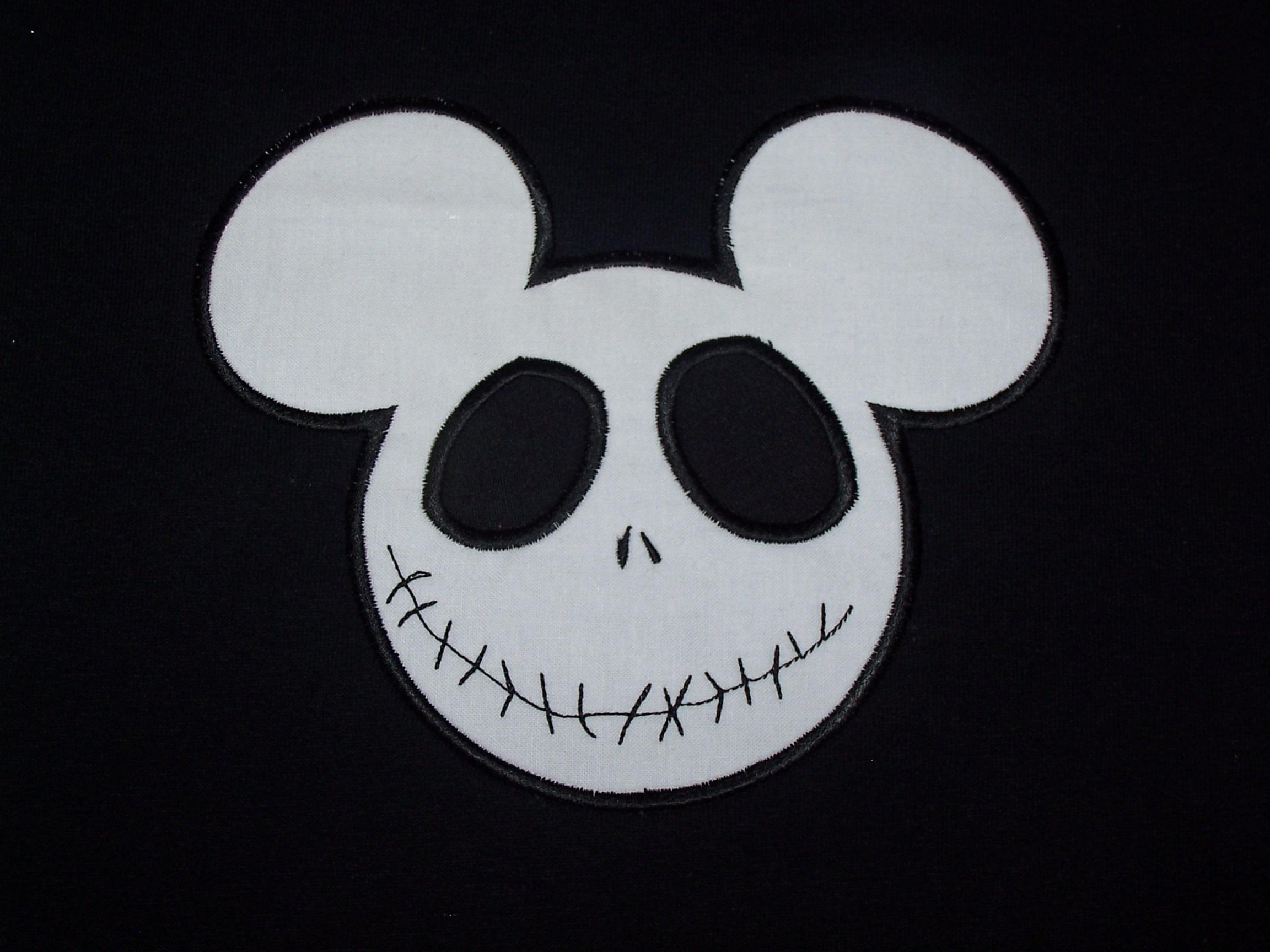 Halloween Mickey Mouse Jack skellington Shirt Disney Custom