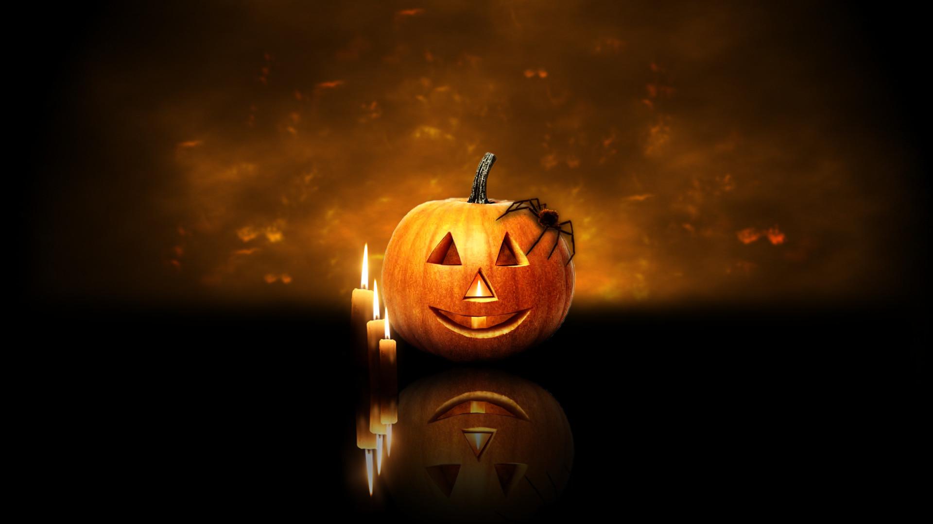 Halloween pumpkin 1920×1080