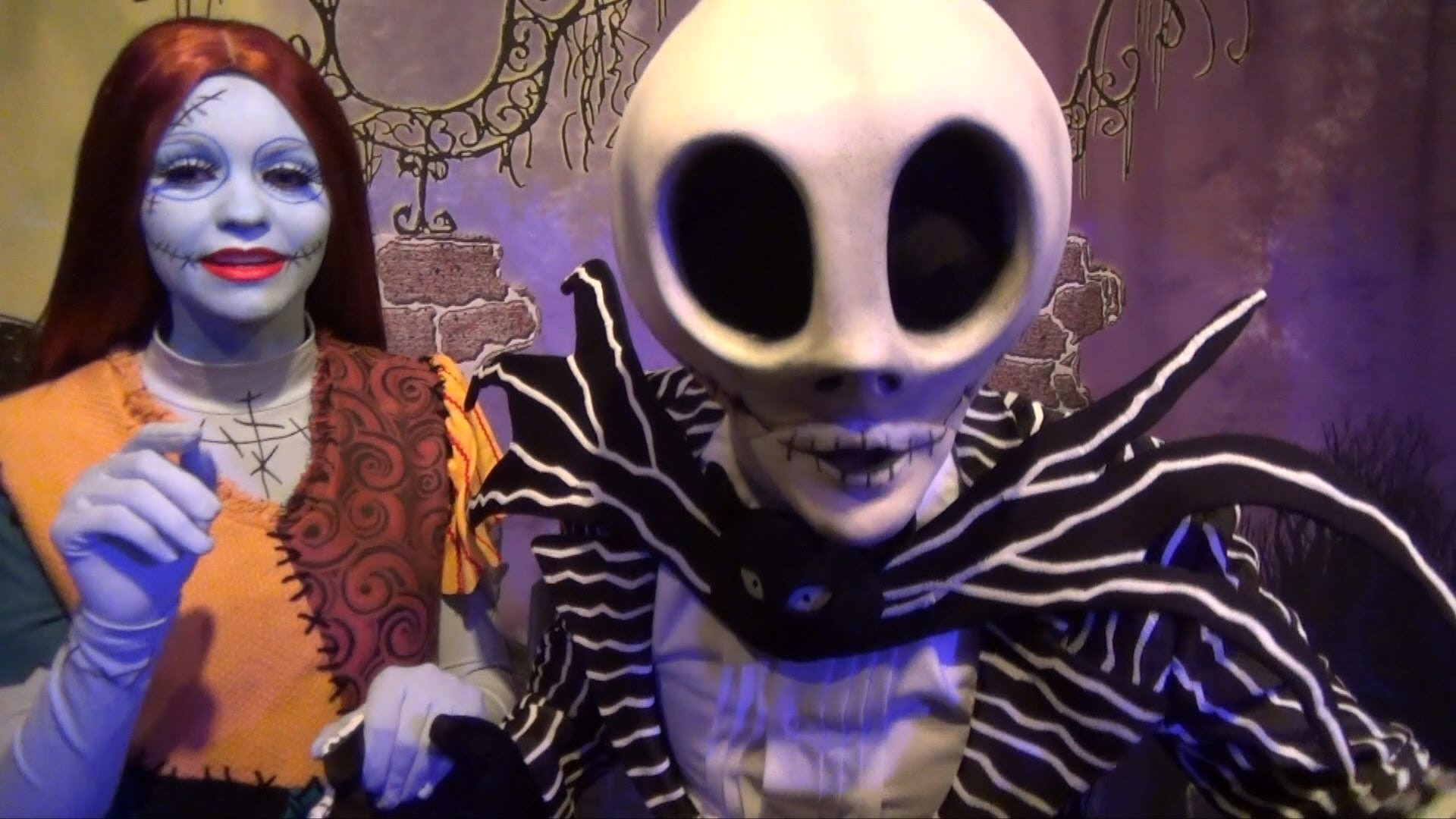 Jack Skellington and Sally Greeting at Mickey's Not So Scary Halloween  Party 2013 Walt Disney World – YouTube