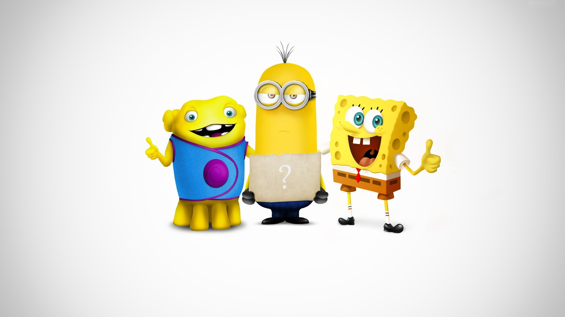 Minion, SpongeBob and Kevin: