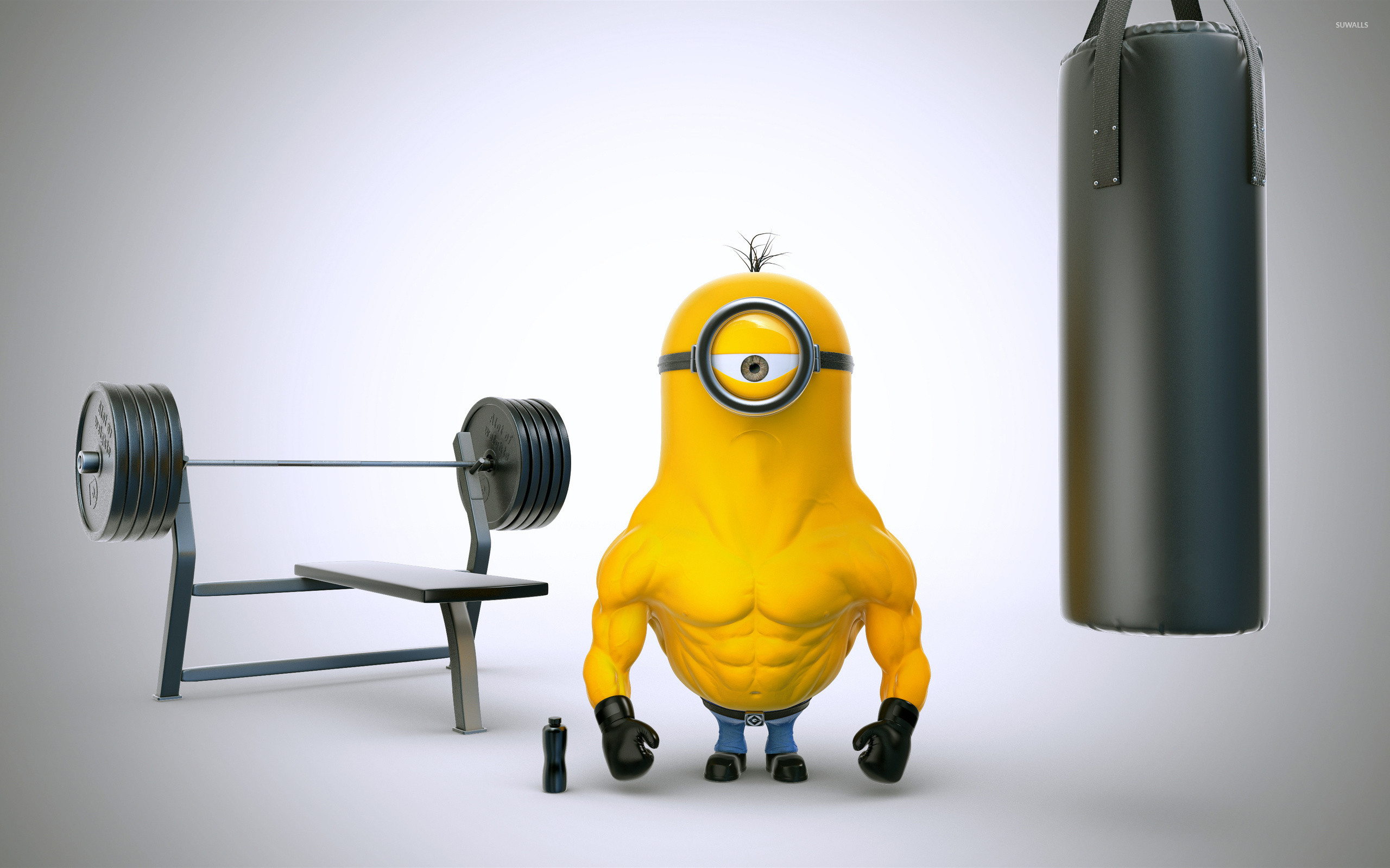 Minion with muscles wallpaper jpg