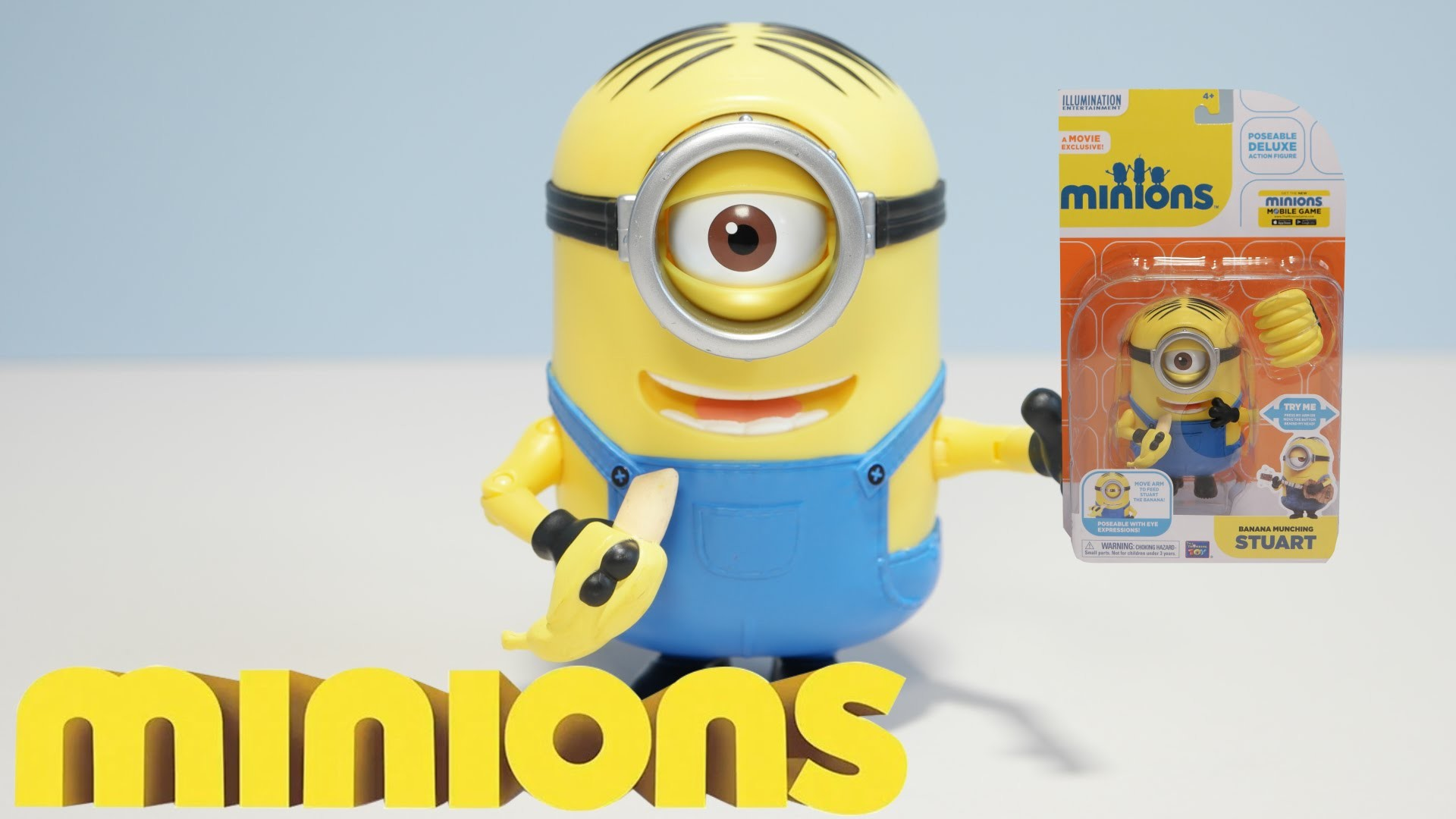 BANANA MUNCHING STUART – New 2015 Minions Movie Exclusive Toys UHD 4K –  YouTube