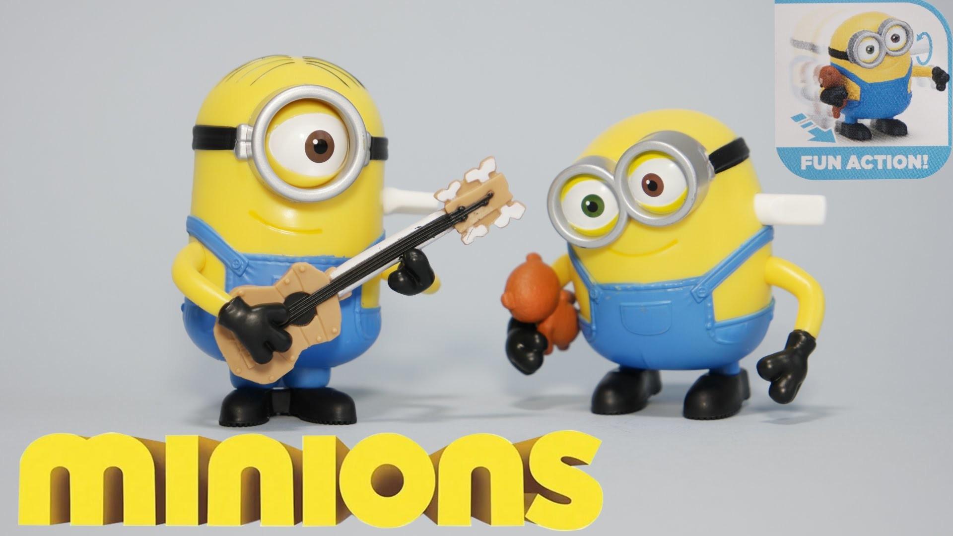 FUN ACTION MINIONS – BOPPING BOB & GUITAR STRUMMING STUART – New 2015 Movie  Exclusive Toys UHD 4K – YouTube