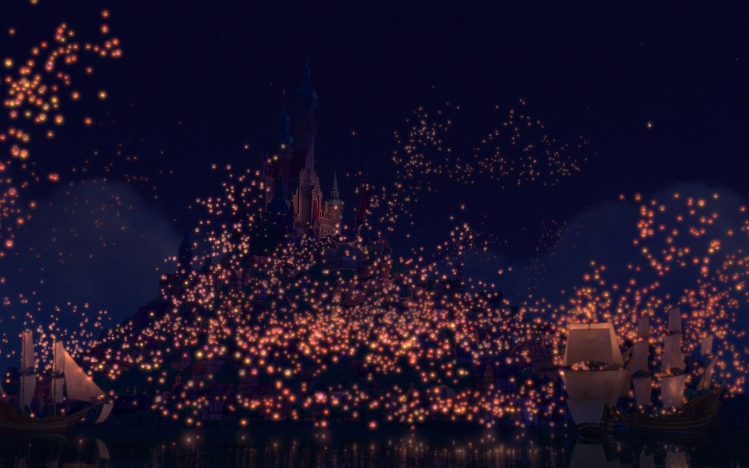 Wallpapers Backgrounds Tangled Lanterns Iphone Wallpaper