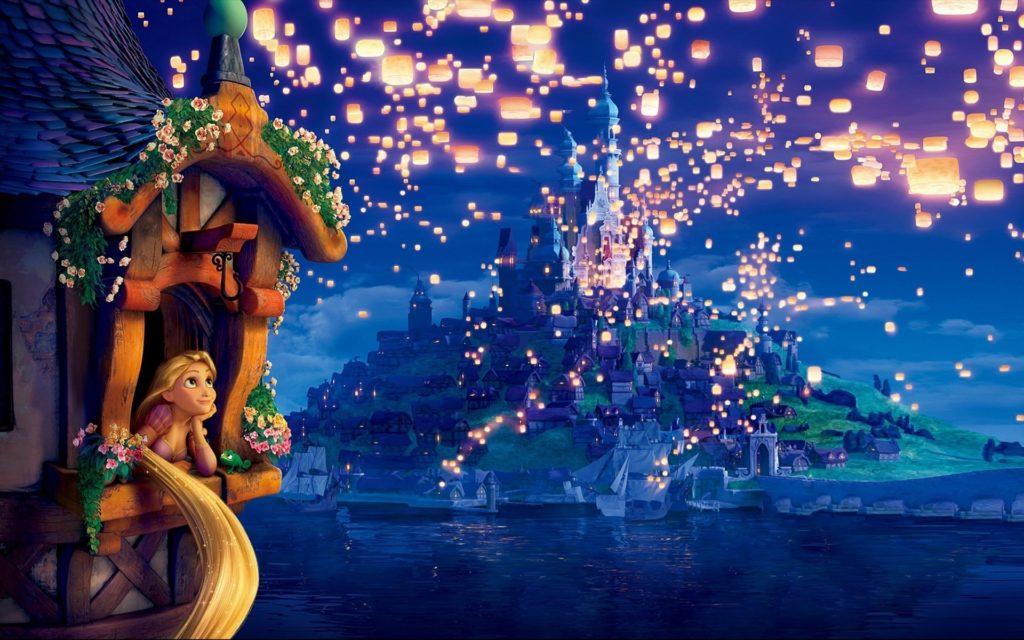 Rapunzel Dreams – Disney Wallpaper,Disney hd Wallpaper For Desktop .