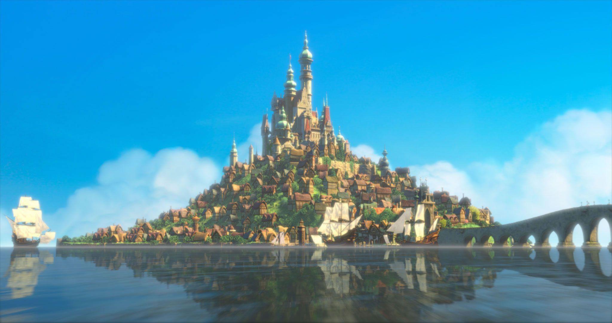 Rapunzel's Castle from Disney's Tangled Desktop Wallpaper