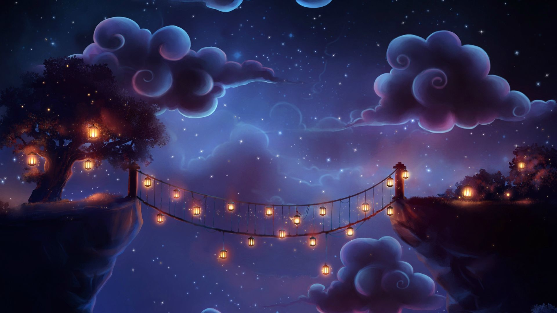 71 Tangled Floating Lanterns Desktop