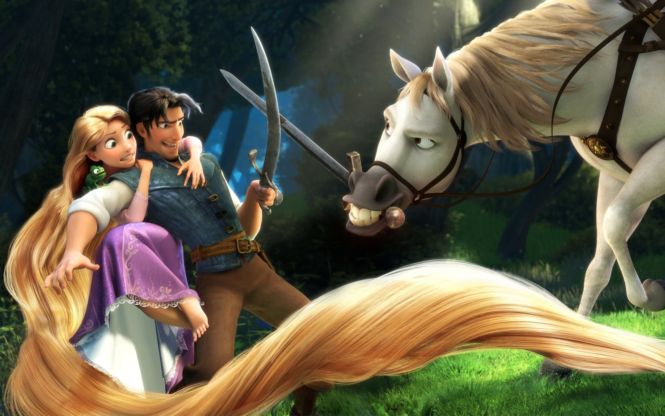Rapunzel & Flynn in Tangled Wallpapers | HD Wallpapers