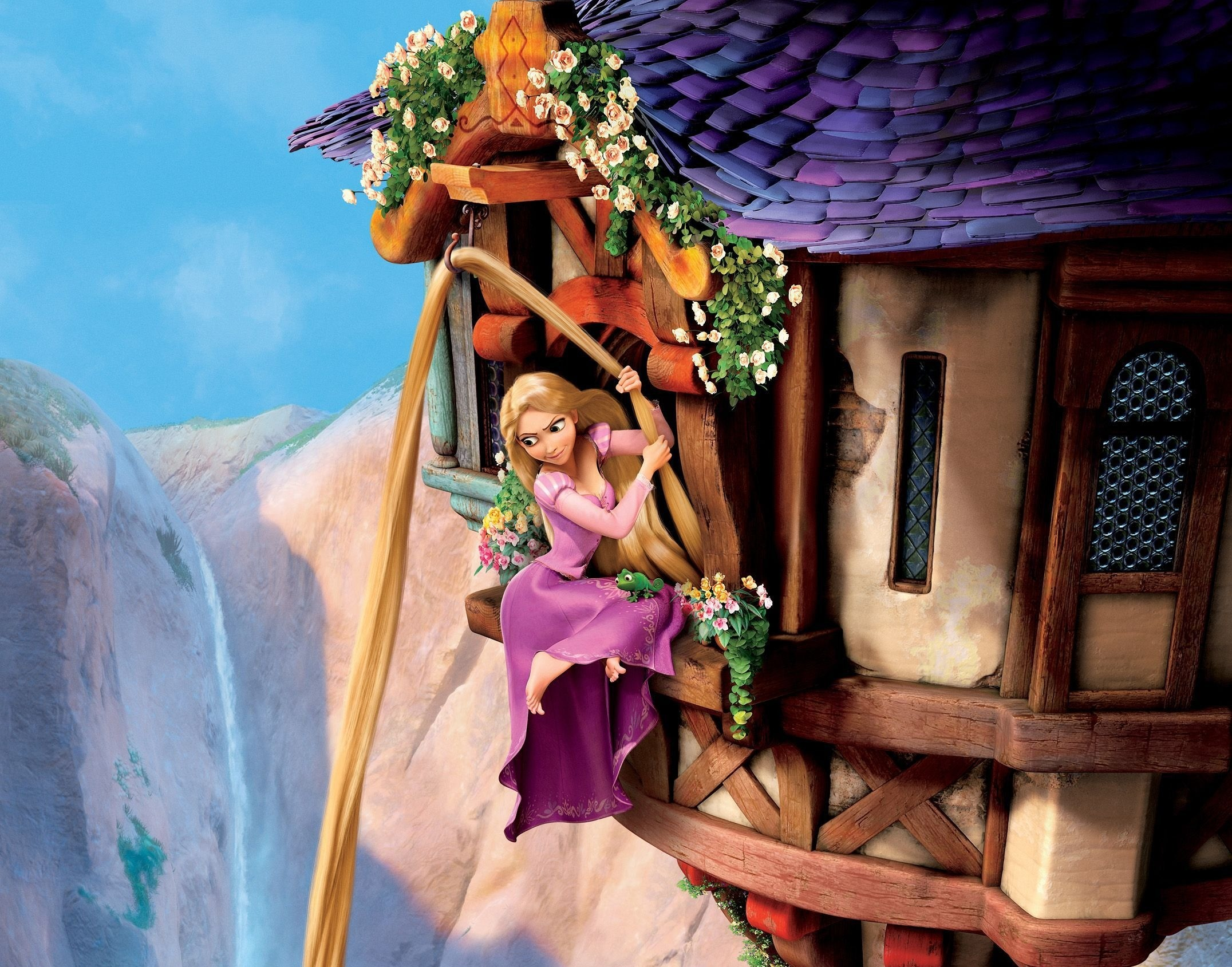 Related Wallpapers. Tangled, complex story, Rapunzel, Princess, Goldilocks,  castle, tower, window