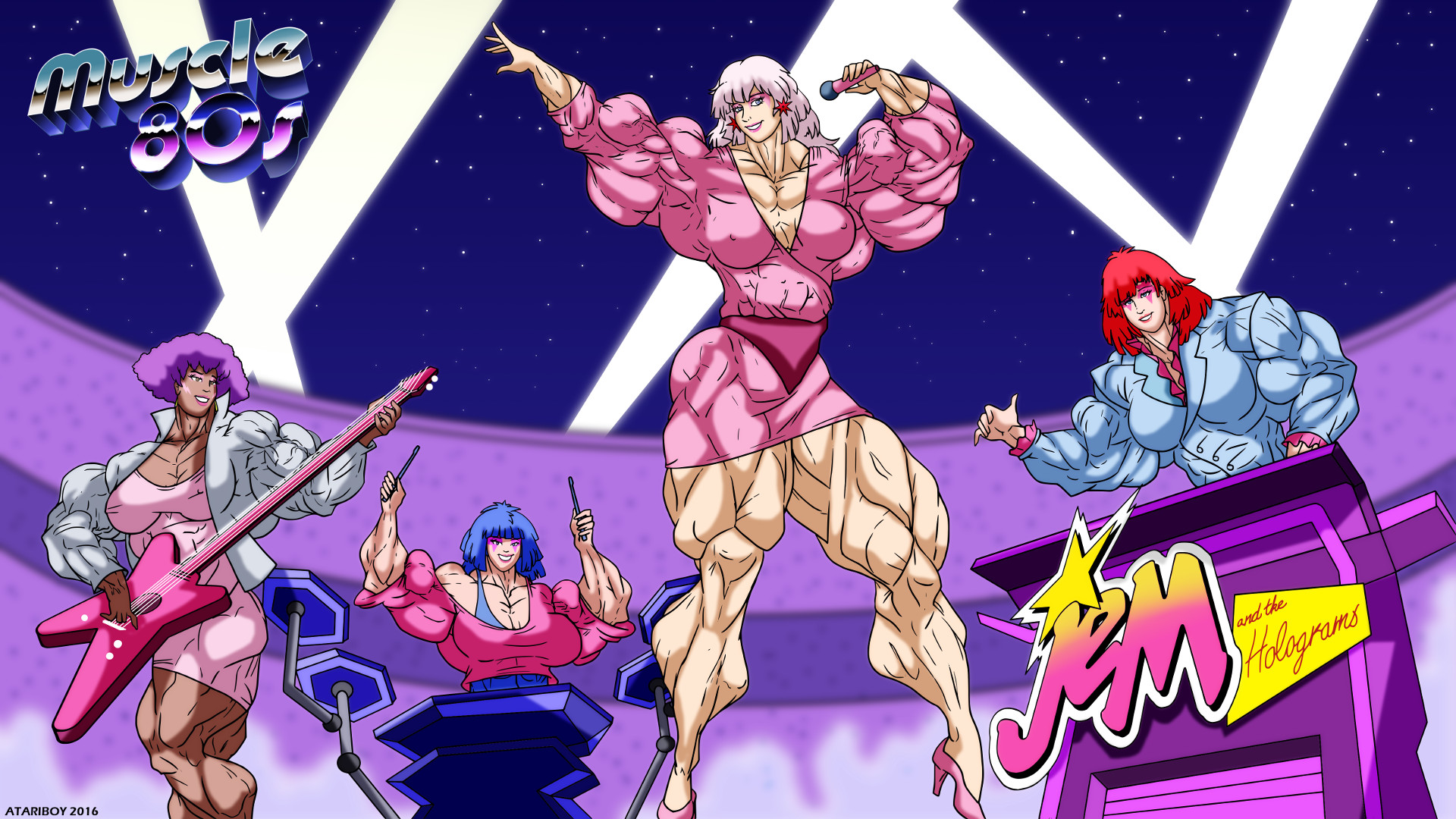 … Muscle 80s – Jem And The Holograms. by Atariboy2600