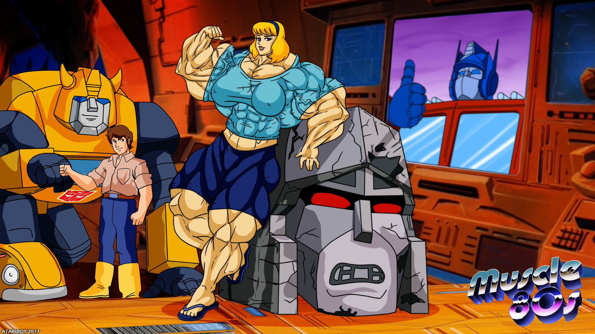 … Muscle 80s – The Transformers. by Atariboy2600