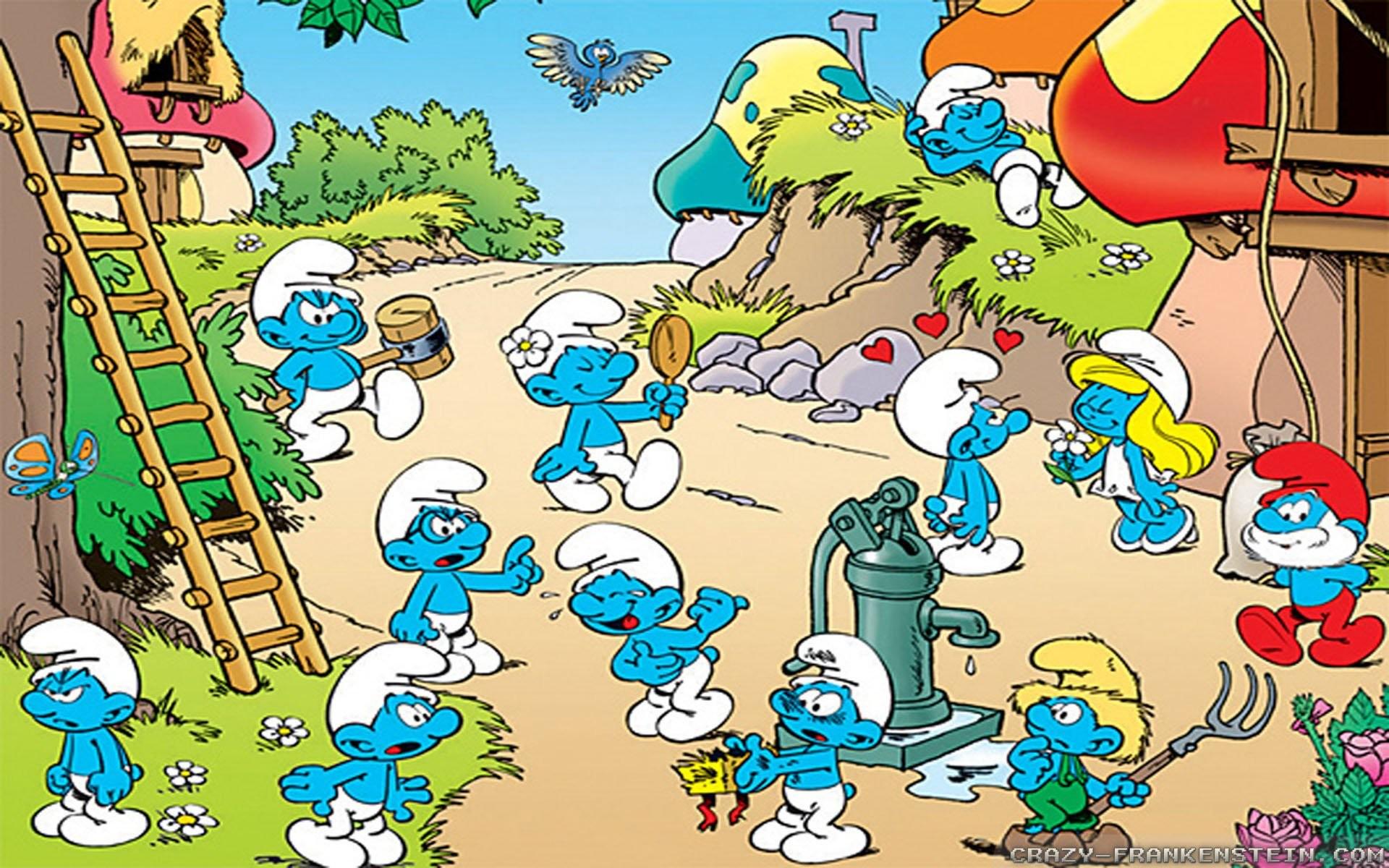 The-Smurfs-Cartoon-Wallpapers-2.jpg (1920×1200) | el 17 anata ga naritai  monodesu | Pinterest