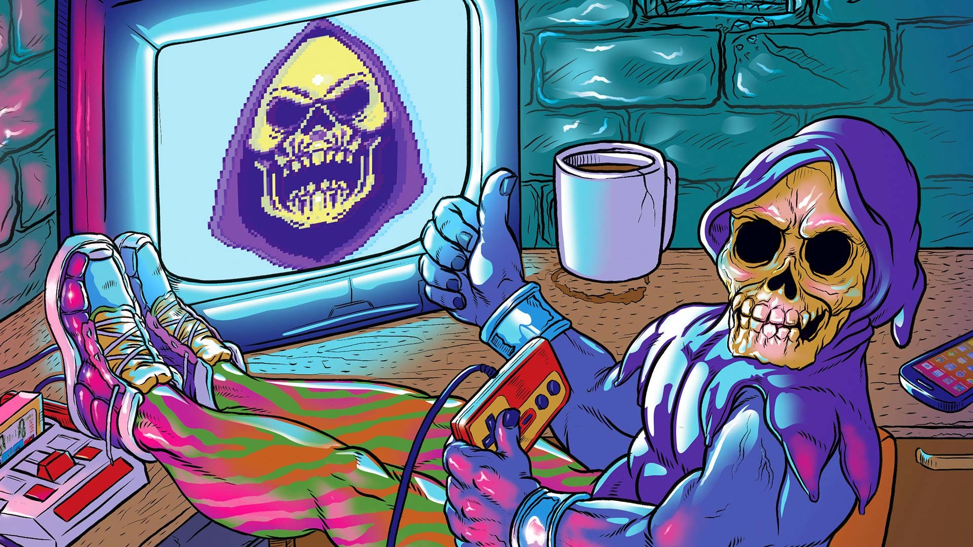 … Indie-Toys-Espacio-Cabrera-Skeletor-He-Man-80s -Retro-Pop-Culture-Family-Game-Famicom-Pixelart-Cartoon-Cool-Illustration-Comic-Digital-Artist-Artwork-  …