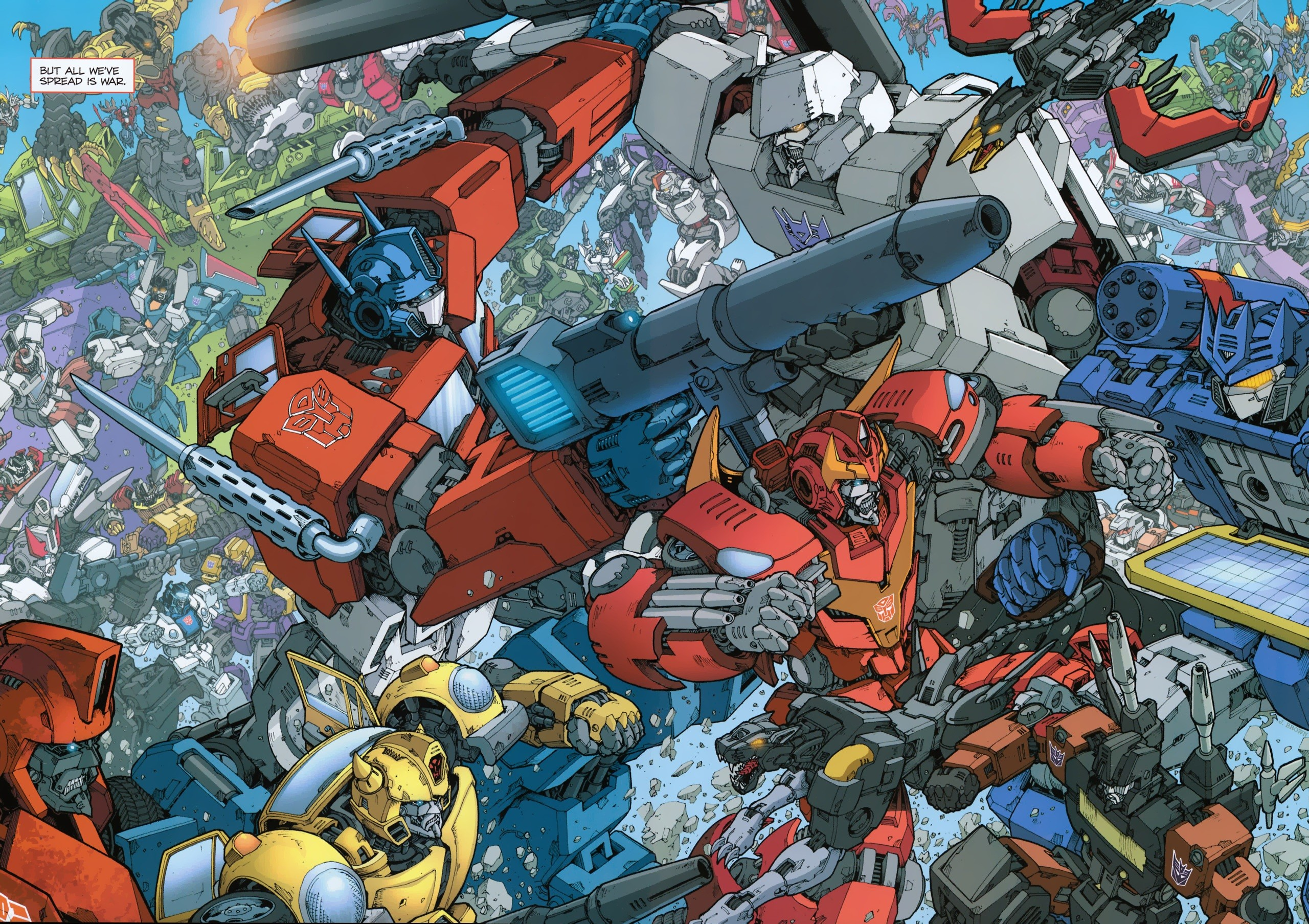 transformers 2010 panel new comic inside cover issue high resolution .