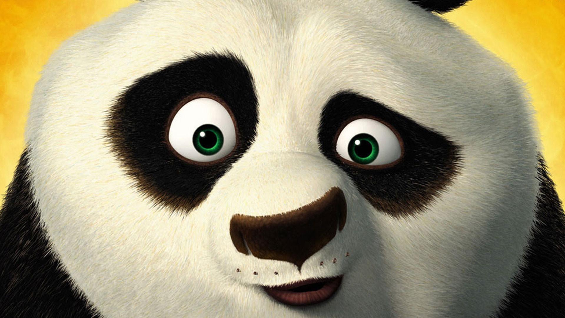 hd pics photos cartoon panda kungfu desktop background wallpaper