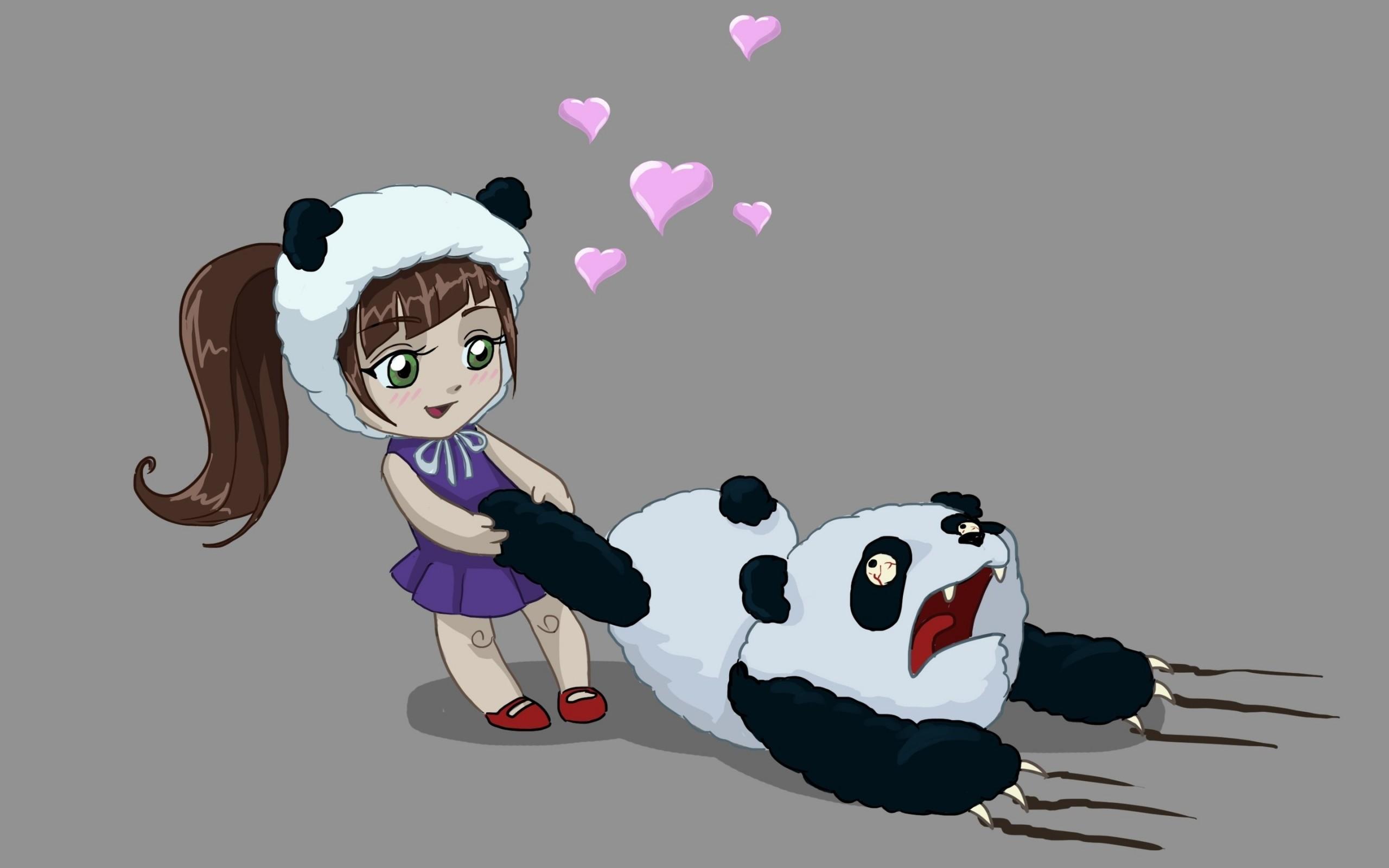 Funny Girl Love Panda