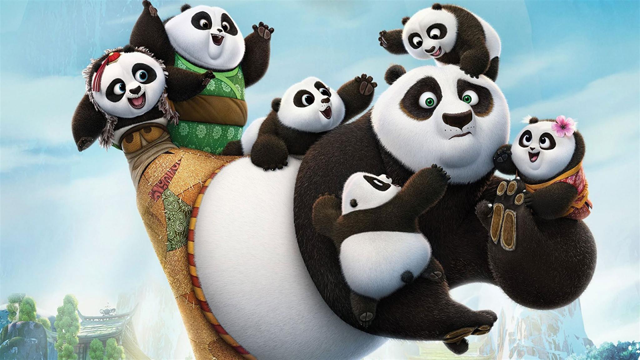 Wallpapers Kung Fu Panda Pandas Bears Cartoons 2048×1152