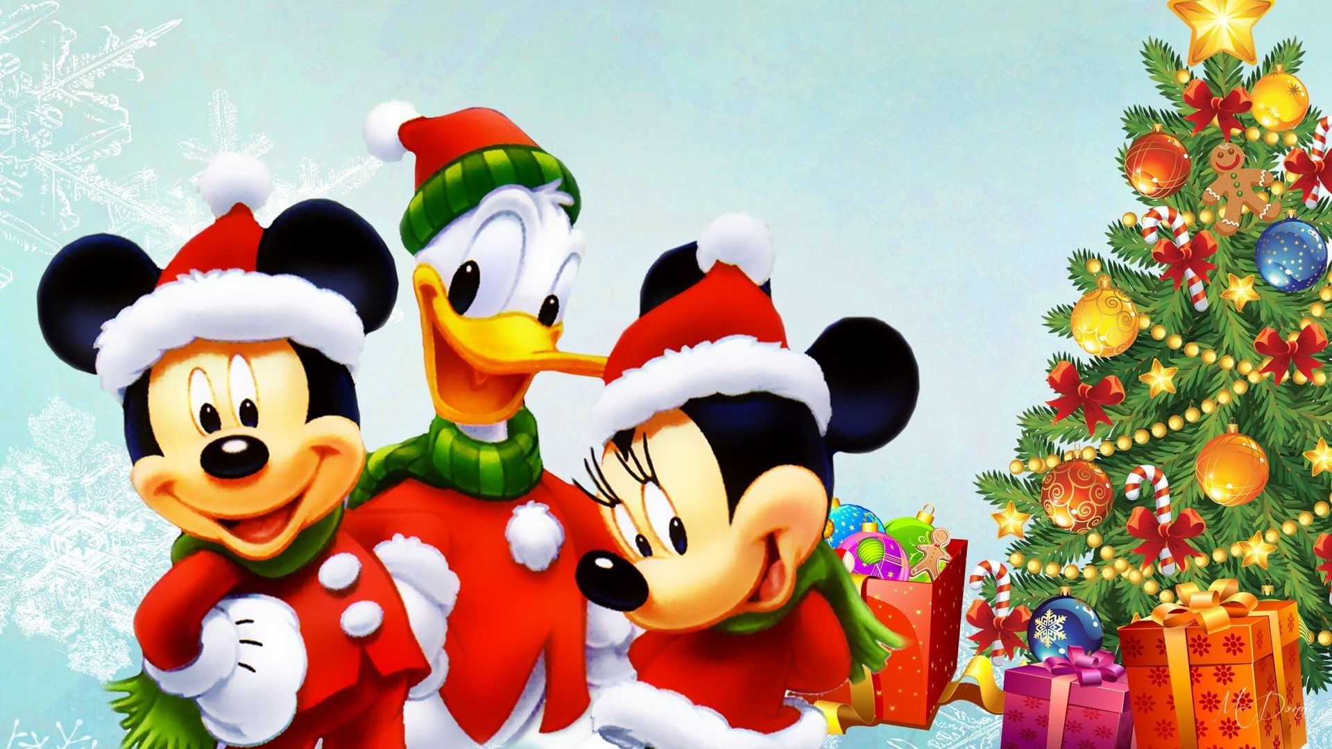 Gifts Tag – Mouse Donald Tree Presents Minnie Mickey Christmas Gifts Duck  Disney Winter Picture Wallpaper
