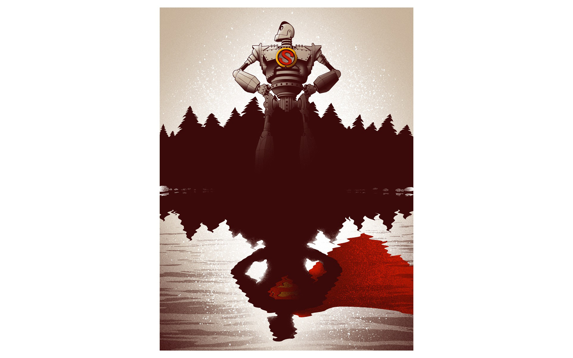 The Iron Giant Robot Reflection White Superman superhero wallpaper |  | 133007 | WallpaperUP