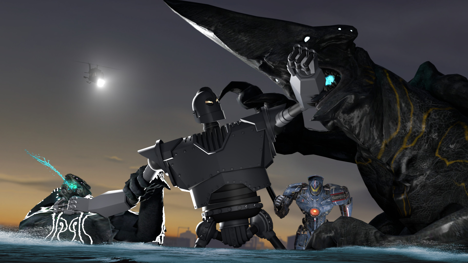 Pacific Rim Kaiju by MaddogSamureye [SFM] The Iron Giant v. Pacific Rim  Kaiju by MaddogSamureye