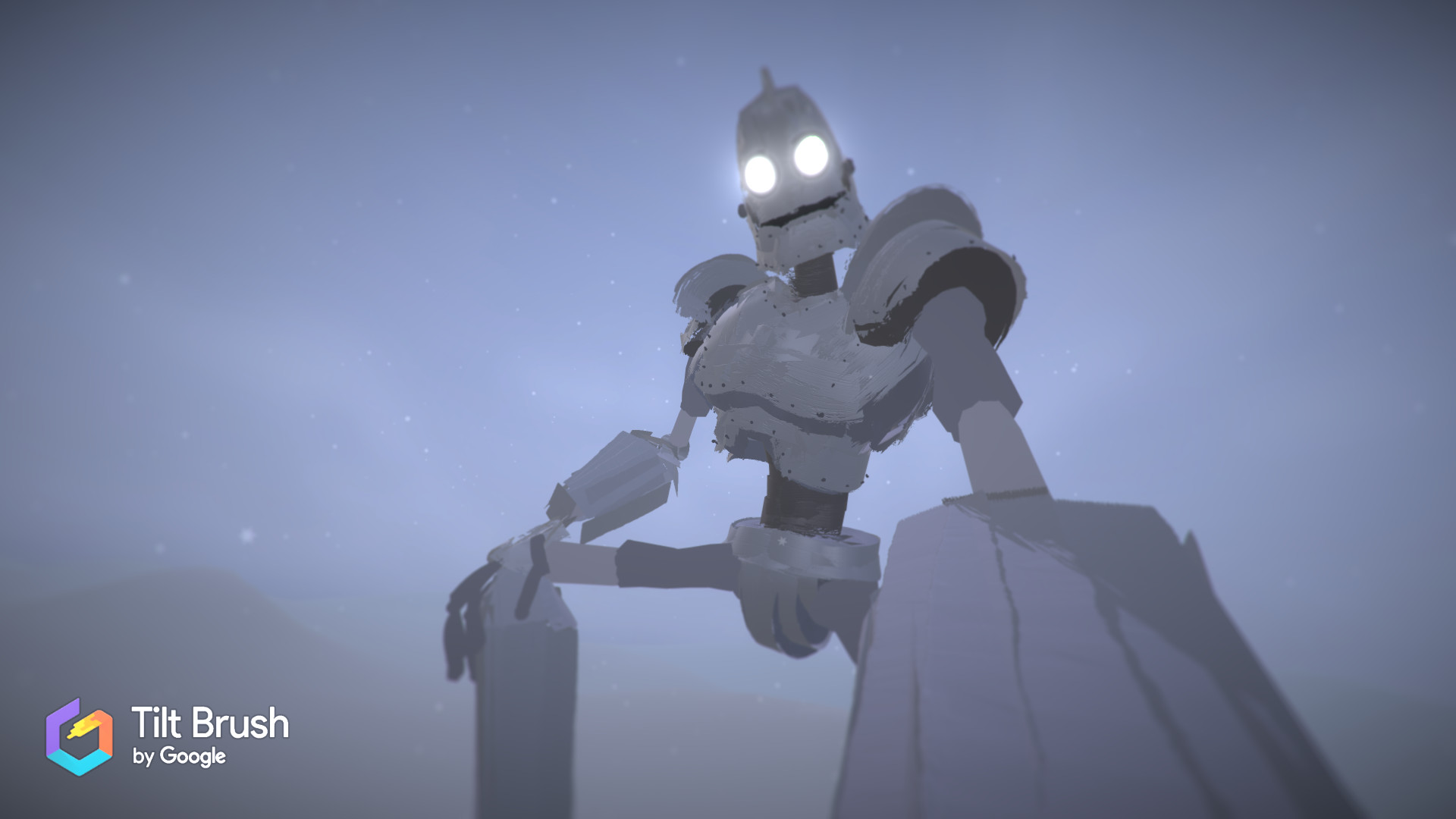 I Painted the Iron Giant, HOLDING ME in VR!