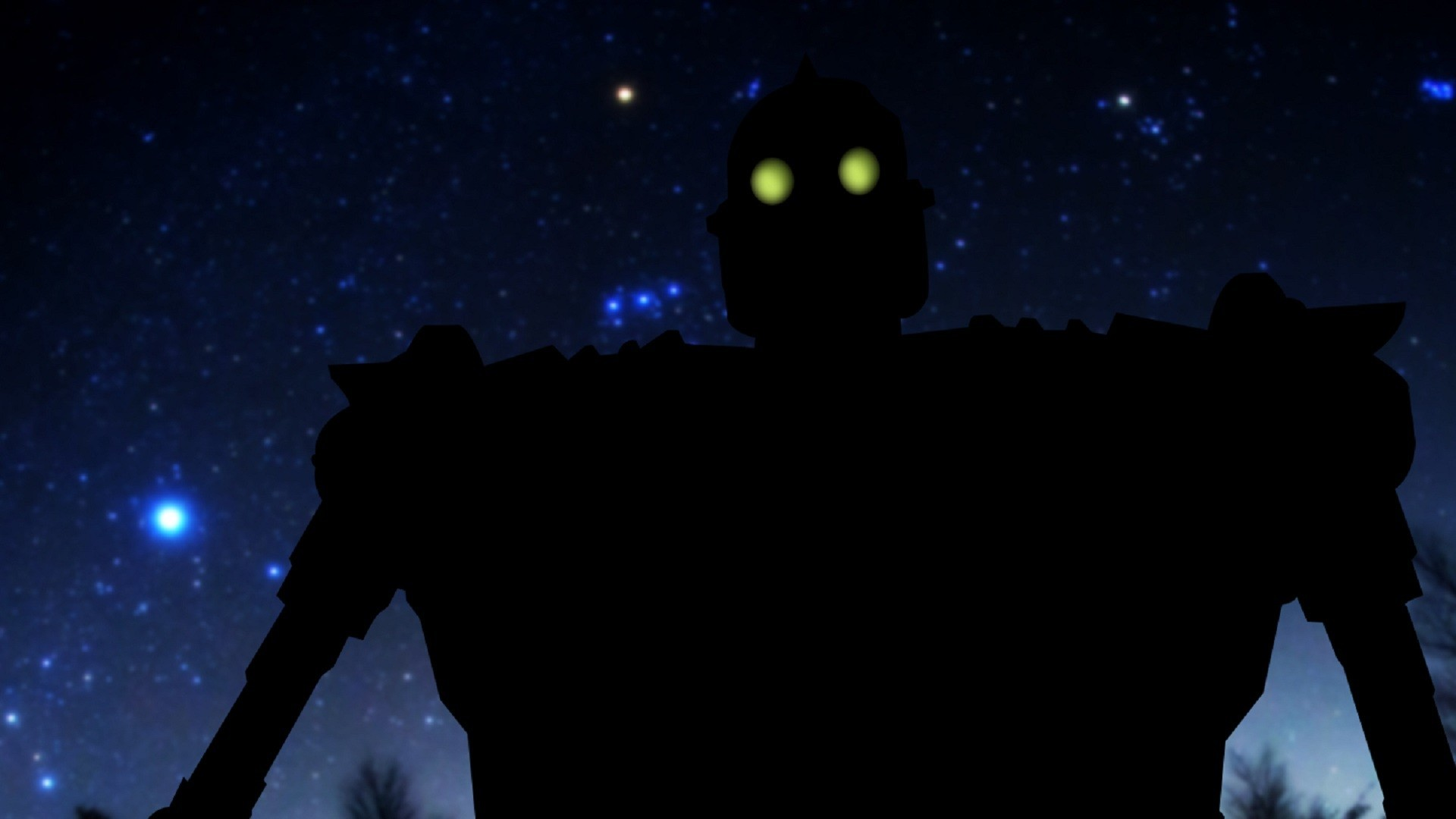 Digital Art, Alternative Art, Robot, Stars, The Iron Giant, Glowing Eyes.  Wallpaper Details