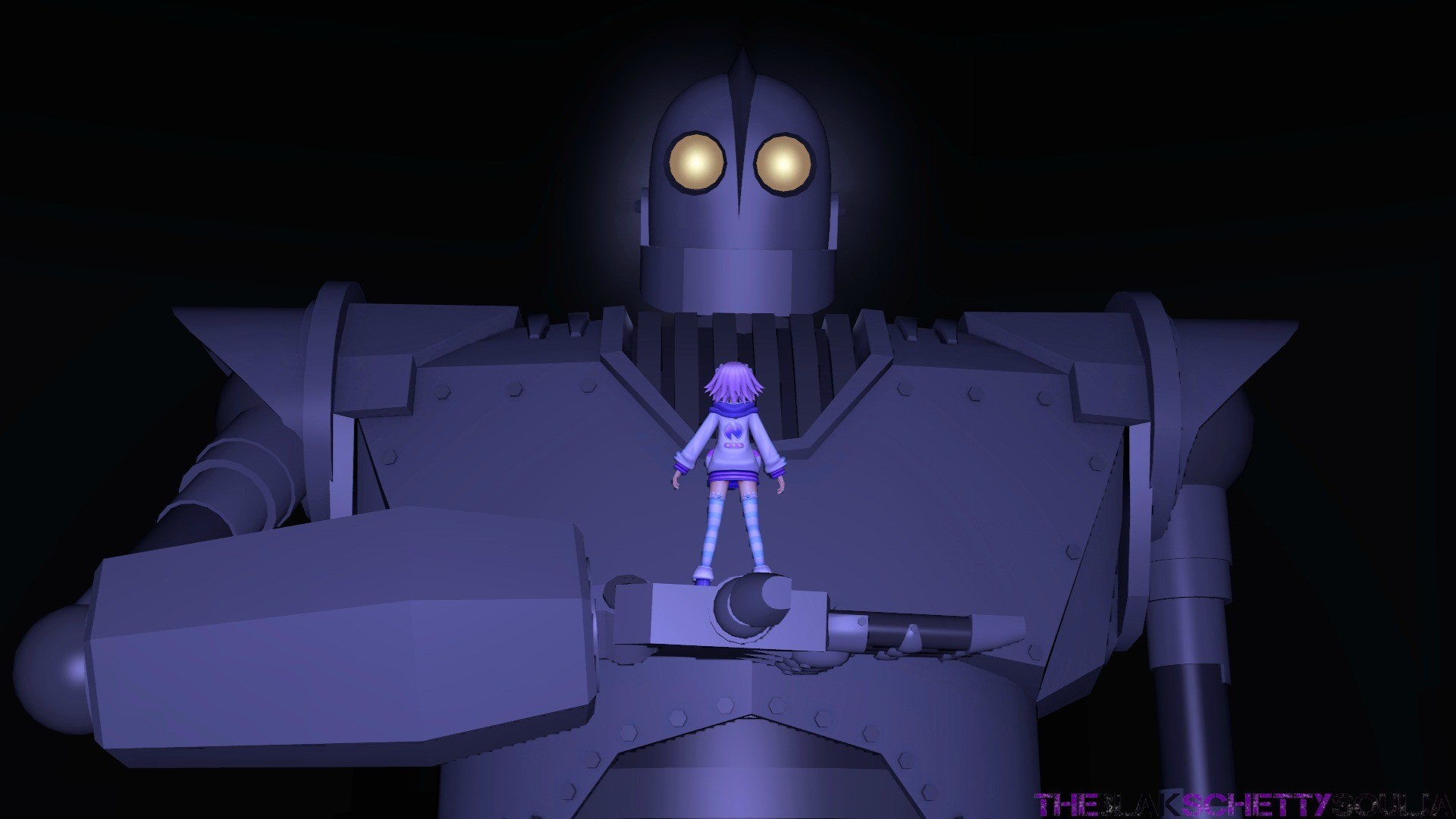 … theblakschettysoulja Nep And The Iron Giant [SFM] by  theblakschettysoulja