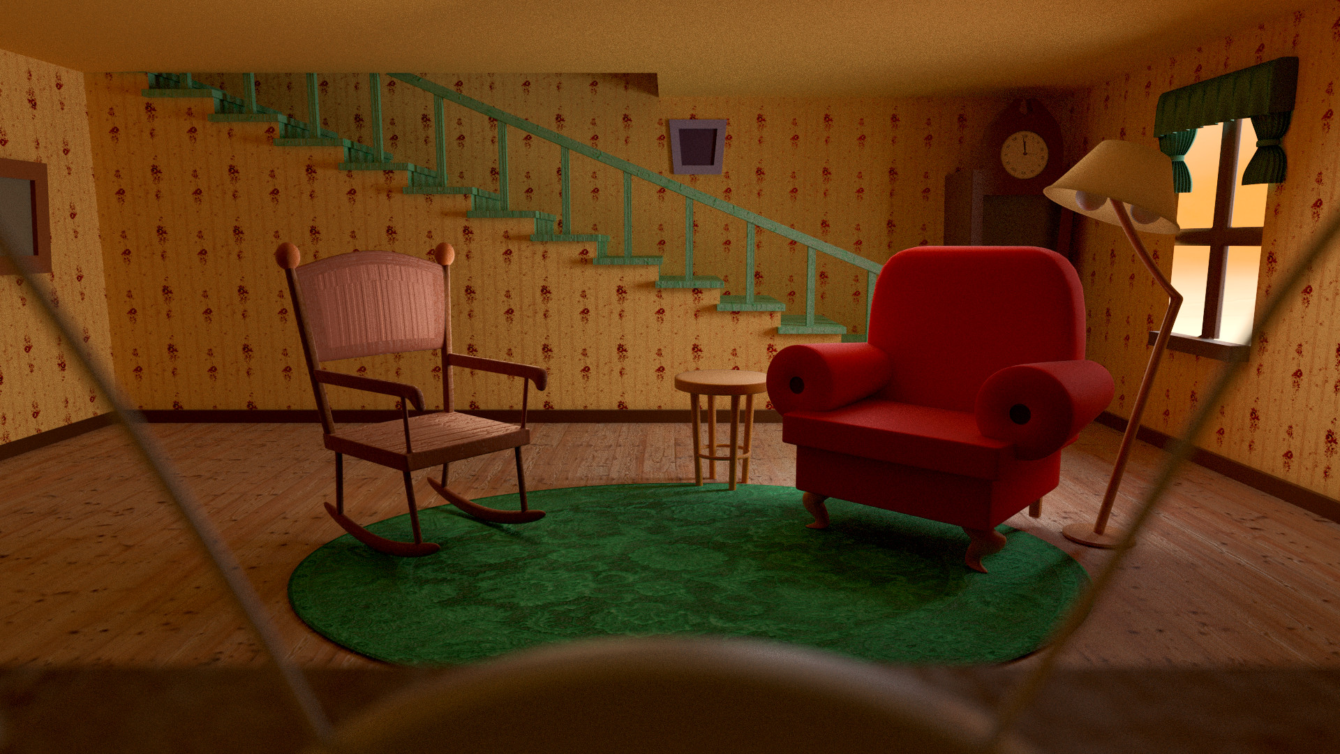 """I Made the Living Room from """"Courage the Cowardly Dog"""" …"""