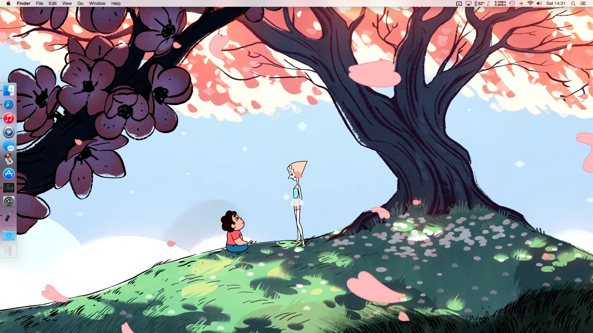 Nowadays I just keep saving prints from 1080p iTunes Steven Universe  episodes, and it looks amazing. I must have 40 wallpapers from it on  rotation.